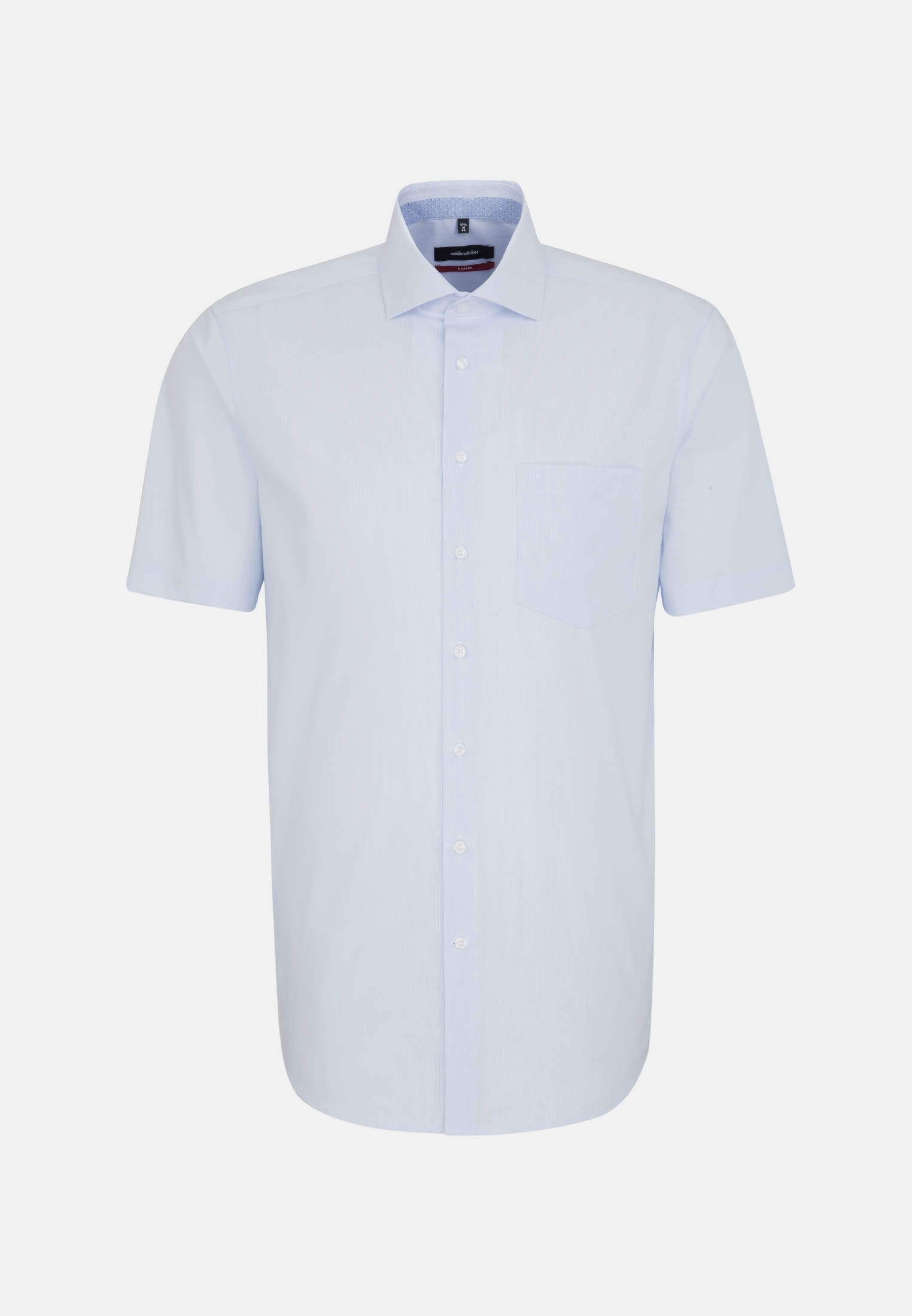 Non-iron Poplin Short sleeve Business Shirt in Regular with Kent-Collar in Light blue |  Seidensticker Onlineshop
