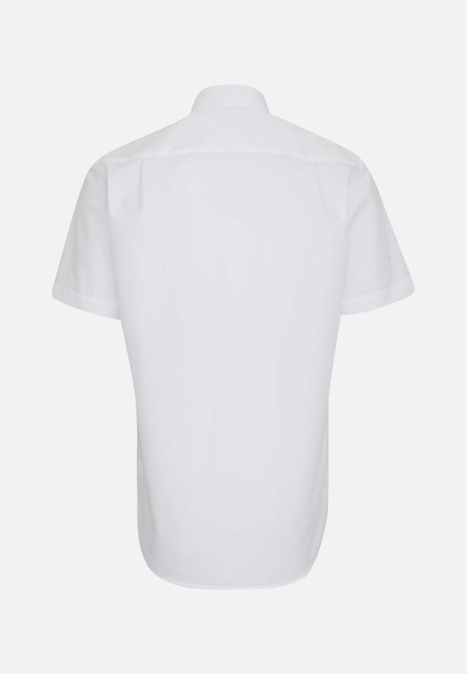 Non-iron Poplin Short arm Business Shirt in Modern with Kent-Collar in White |  Seidensticker Onlineshop