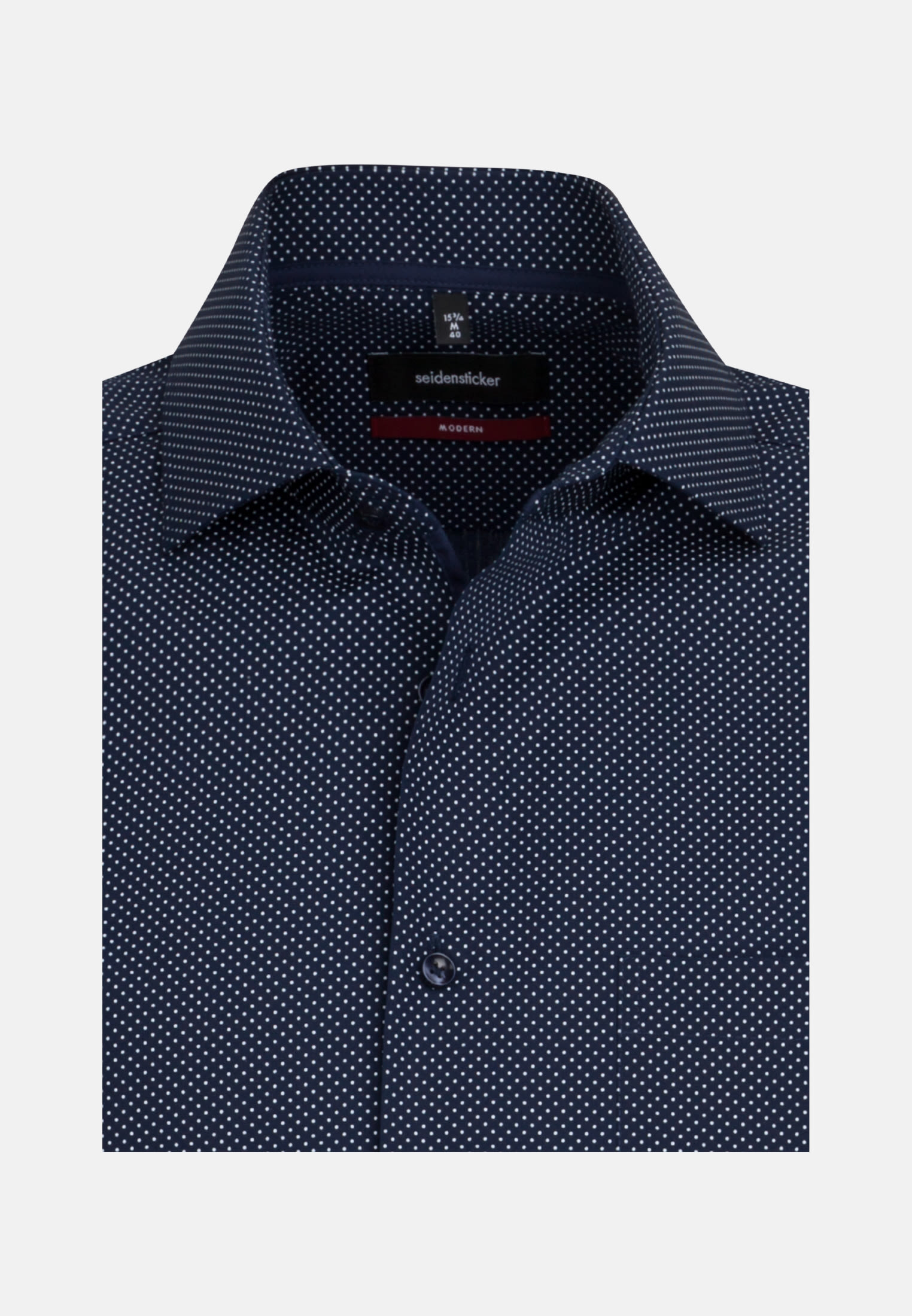 Easy-iron Poplin Short sleeve Business Shirt in Regular with Kent-Collar in Dark blue |  Seidensticker Onlineshop