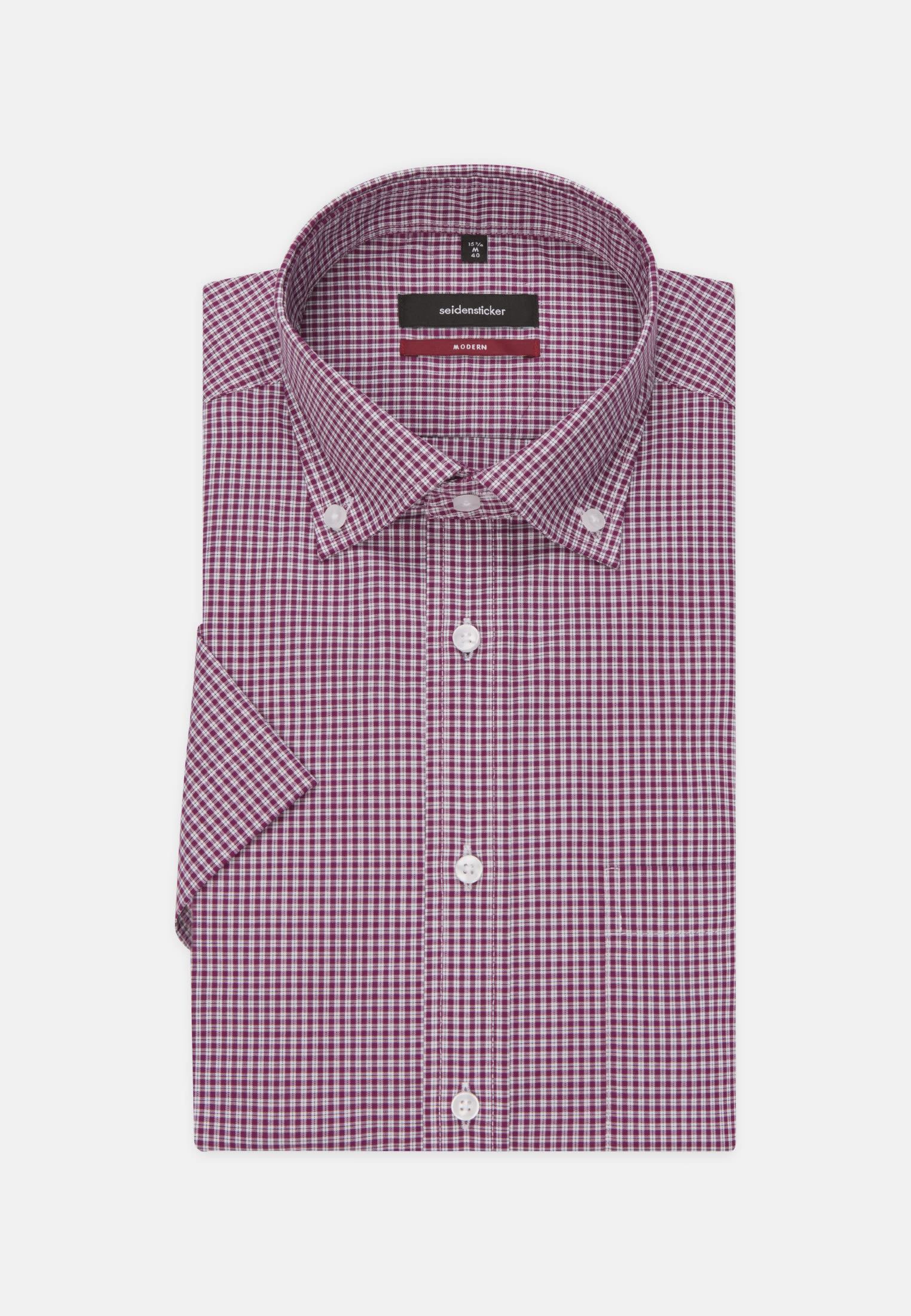 Non-iron Poplin Short arm Business Shirt in Modern with Button-Down-Collar in Purpla |  Seidensticker Onlineshop