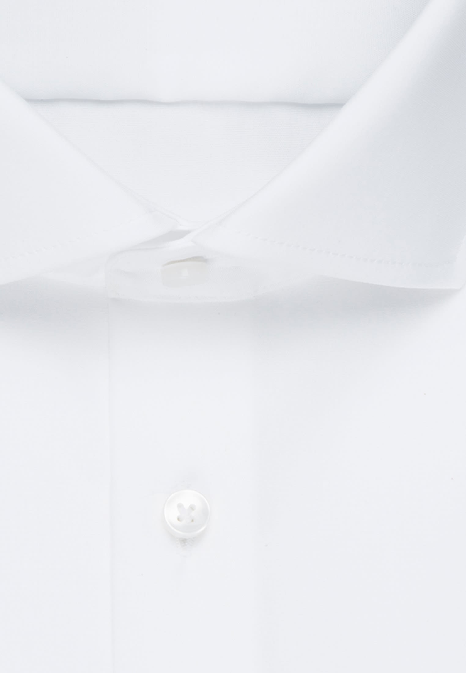 Non-iron Poplin Business Shirt in Tailored with Kent-Collar in weiß |  Seidensticker Onlineshop