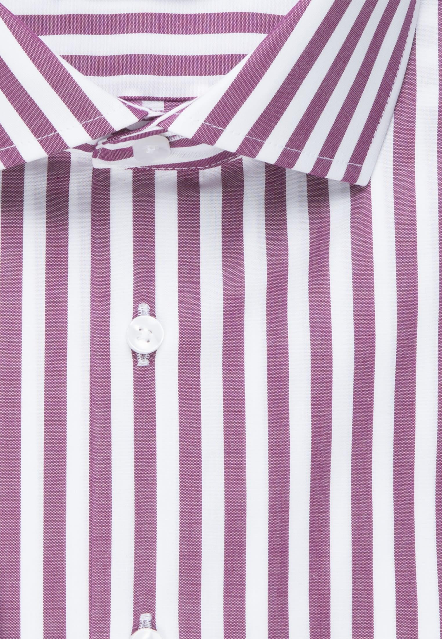 Bügelfreies Popeline Business Hemd in Tailored mit Kentkragen in Lila |  Seidensticker Onlineshop