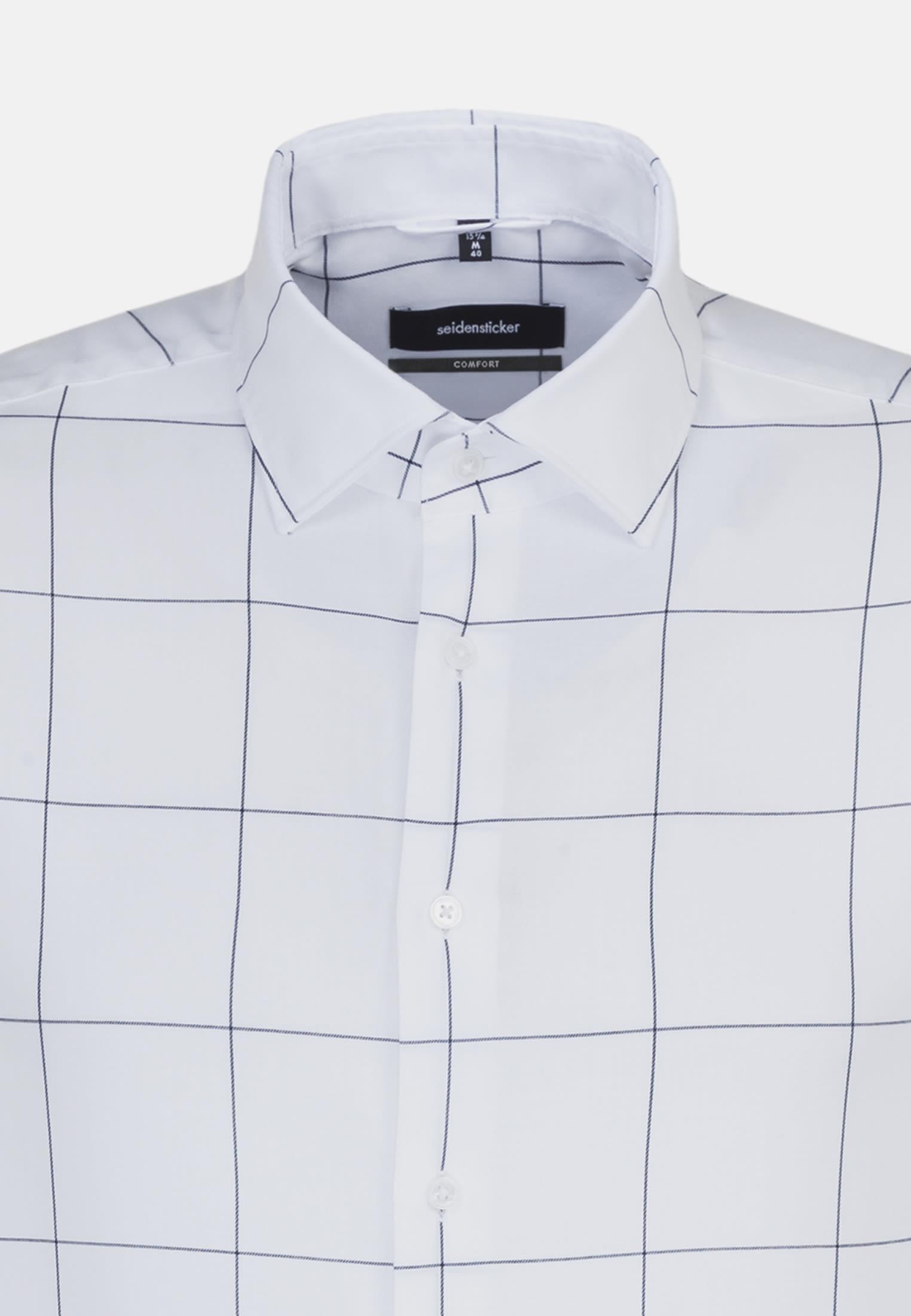 Easy-iron Twill Business Shirt in Comfort with Kent-Collar in blau    Seidensticker Onlineshop