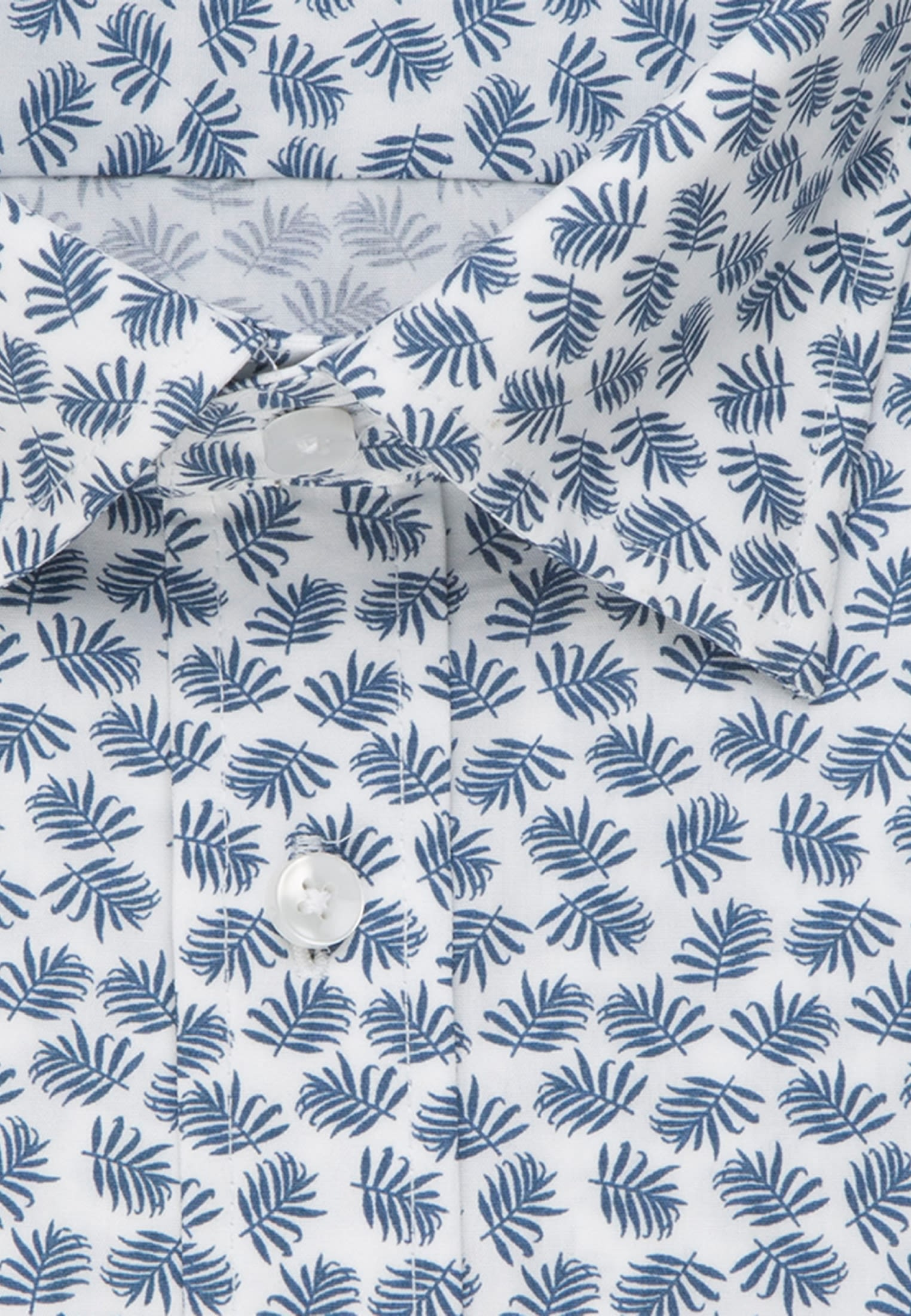 Easy-iron Poplin Business Shirt in Slim with Covered-Button-Down-Collar in Medium blue |  Seidensticker Onlineshop
