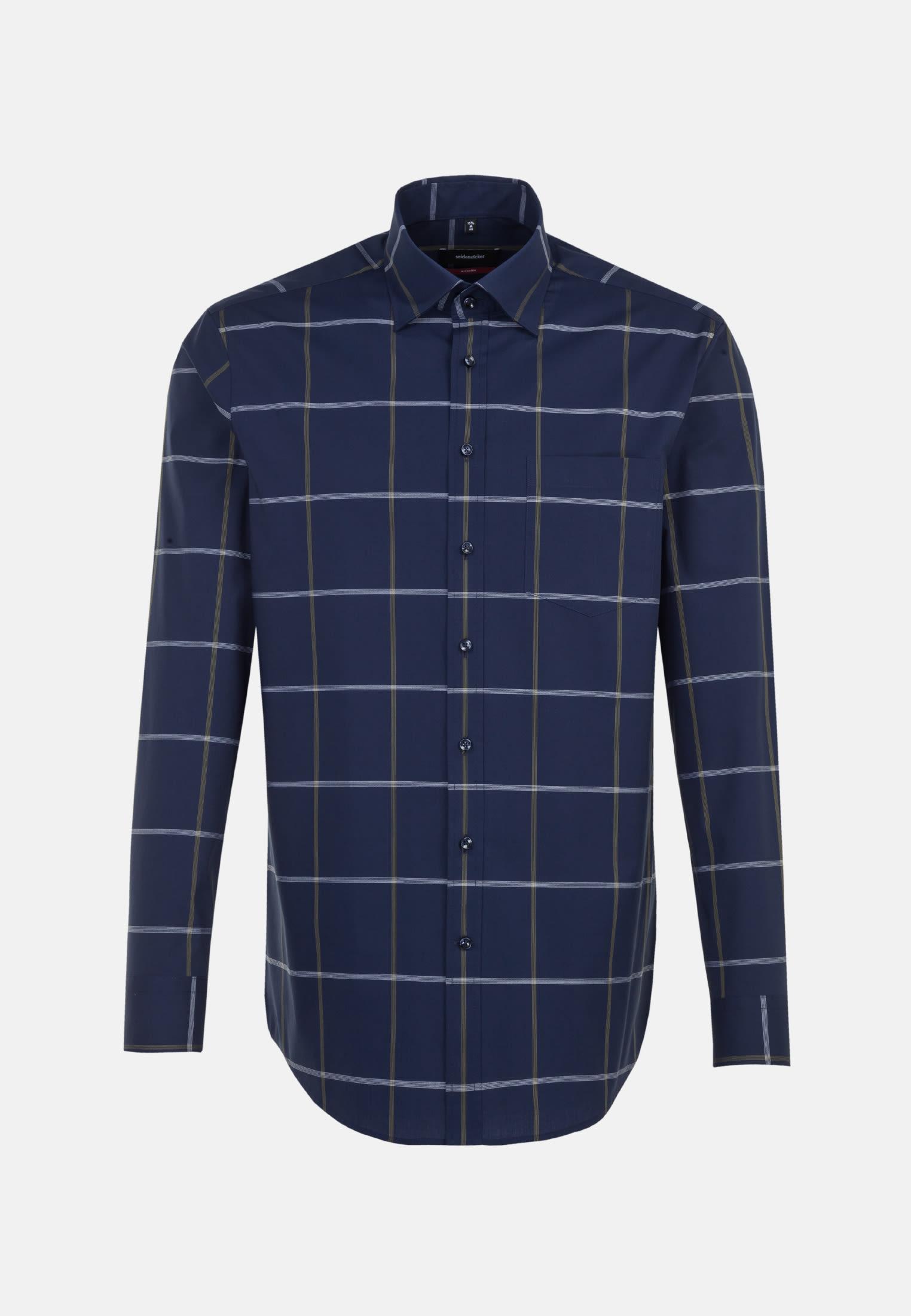 Bügelfreies Popeline Business Hemd in Modern mit Covered-Button-Down-Kragen in Grün    Seidensticker Onlineshop