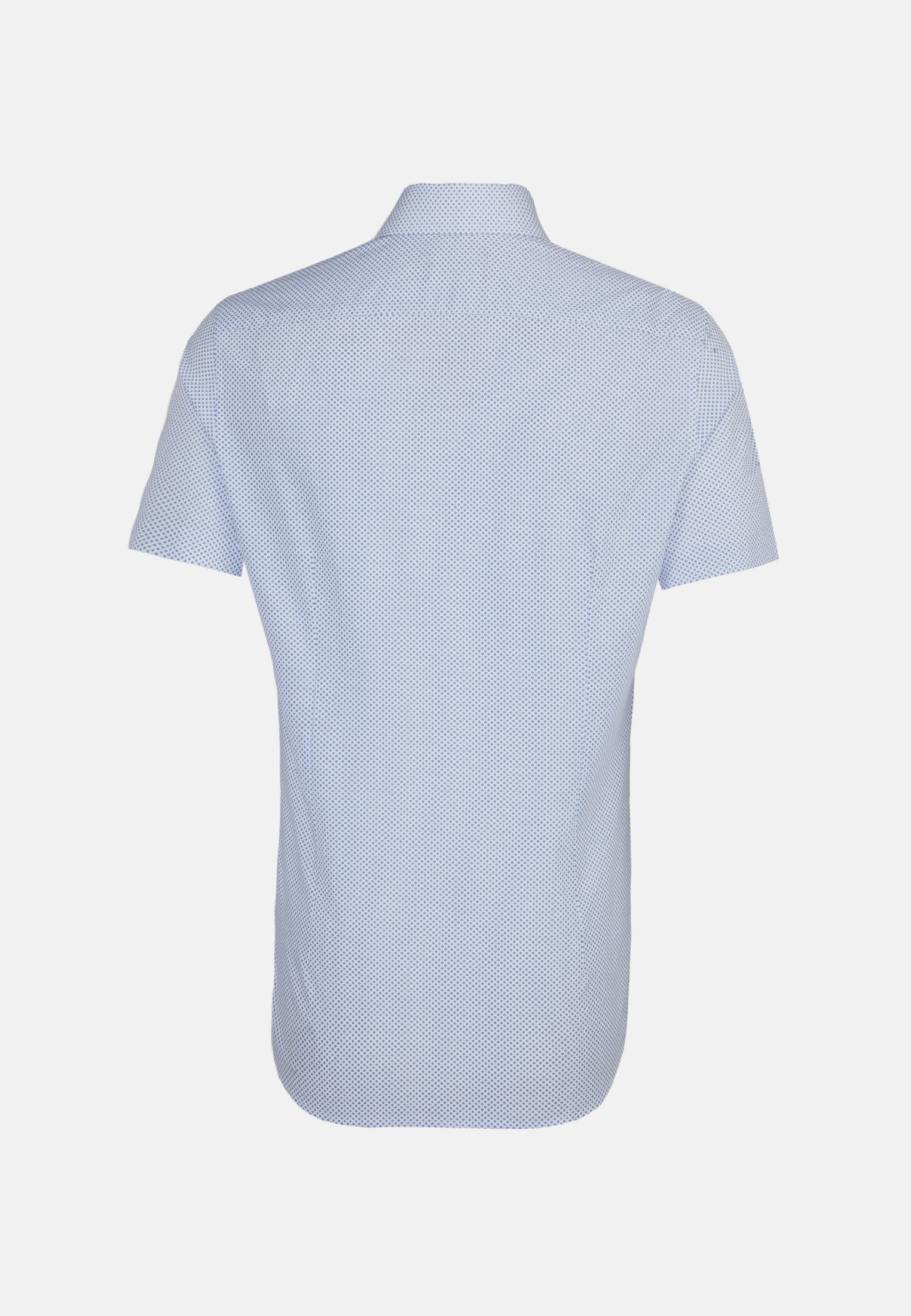Bügelleichtes Popeline Kurzarm Business Hemd in Shaped mit Kentkragen in Hellblau |  Seidensticker Onlineshop