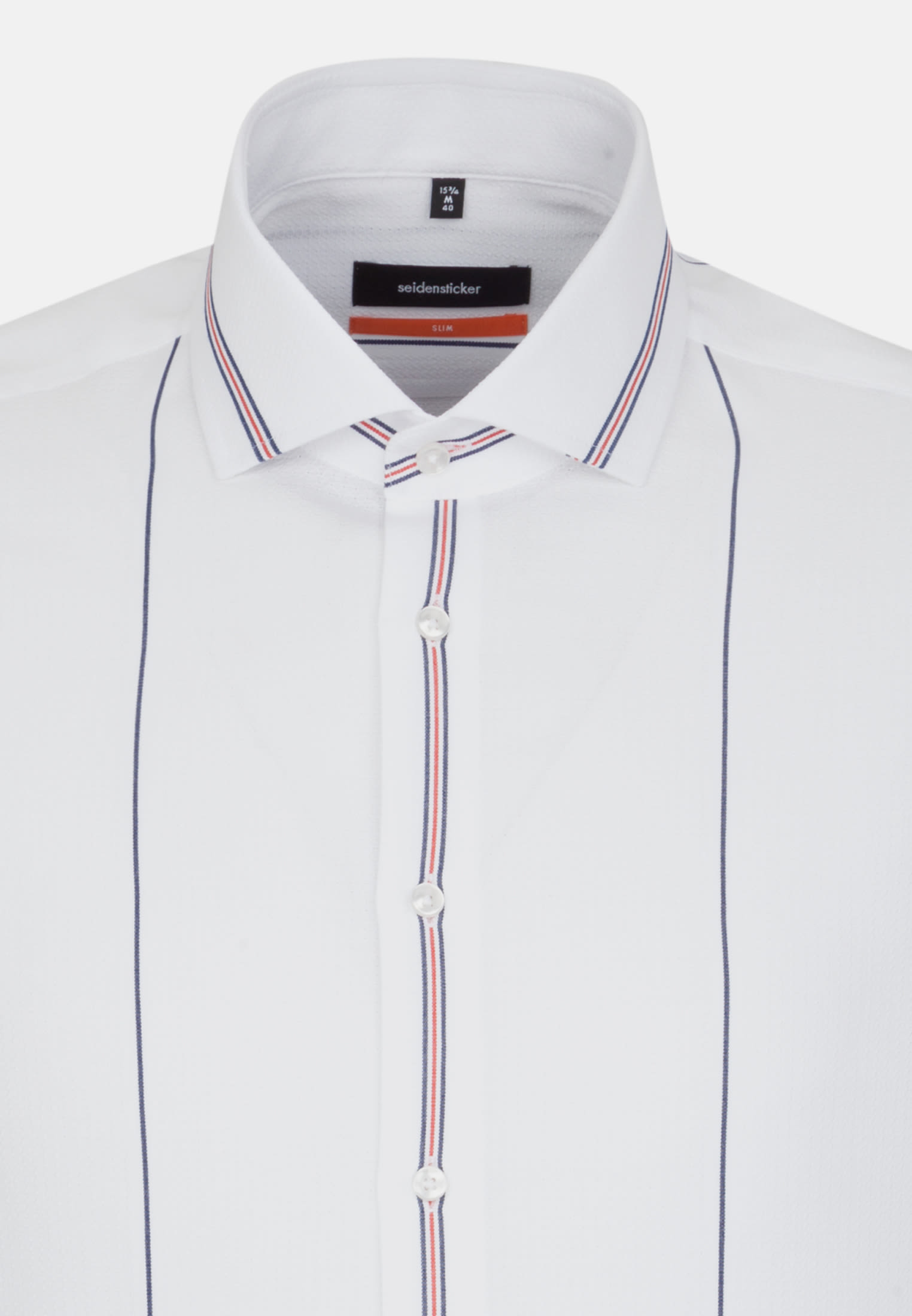 Easy-iron Structure Business Shirt in Slim with Kent-Collar in Red |  Seidensticker Onlineshop