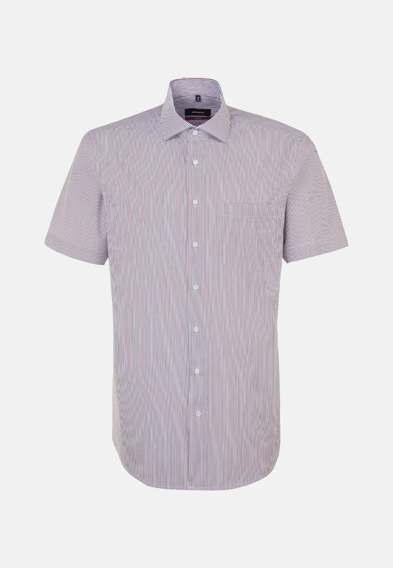 Bügelfreies Popeline Kurzarm Business Hemd in Modern mit Kentkragen in Rot |  Seidensticker Onlineshop