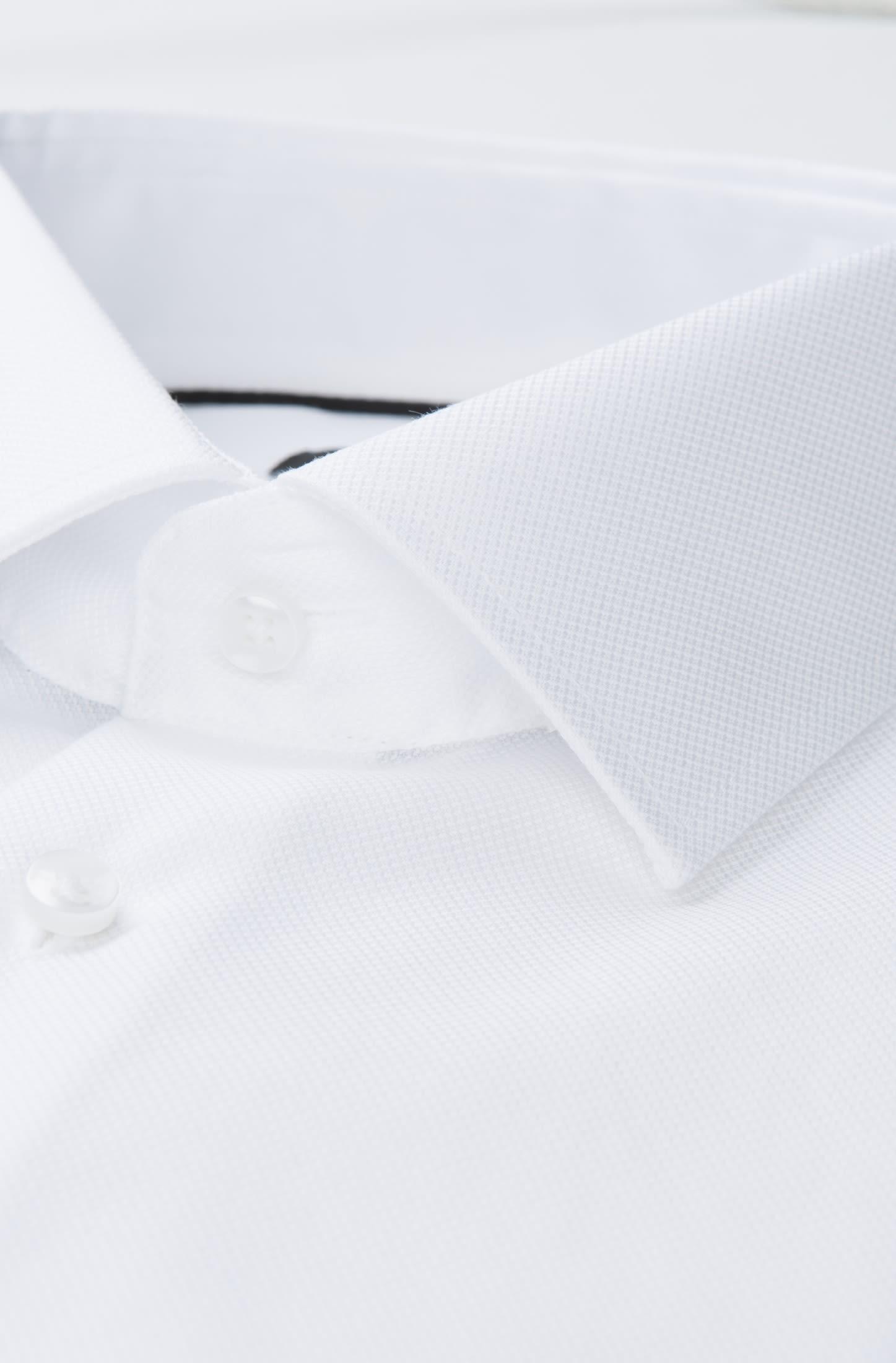 Bügelfreies Struktur Kurzarm Business Hemd in Shaped mit Kentkragen in Weiß |  Seidensticker Onlineshop