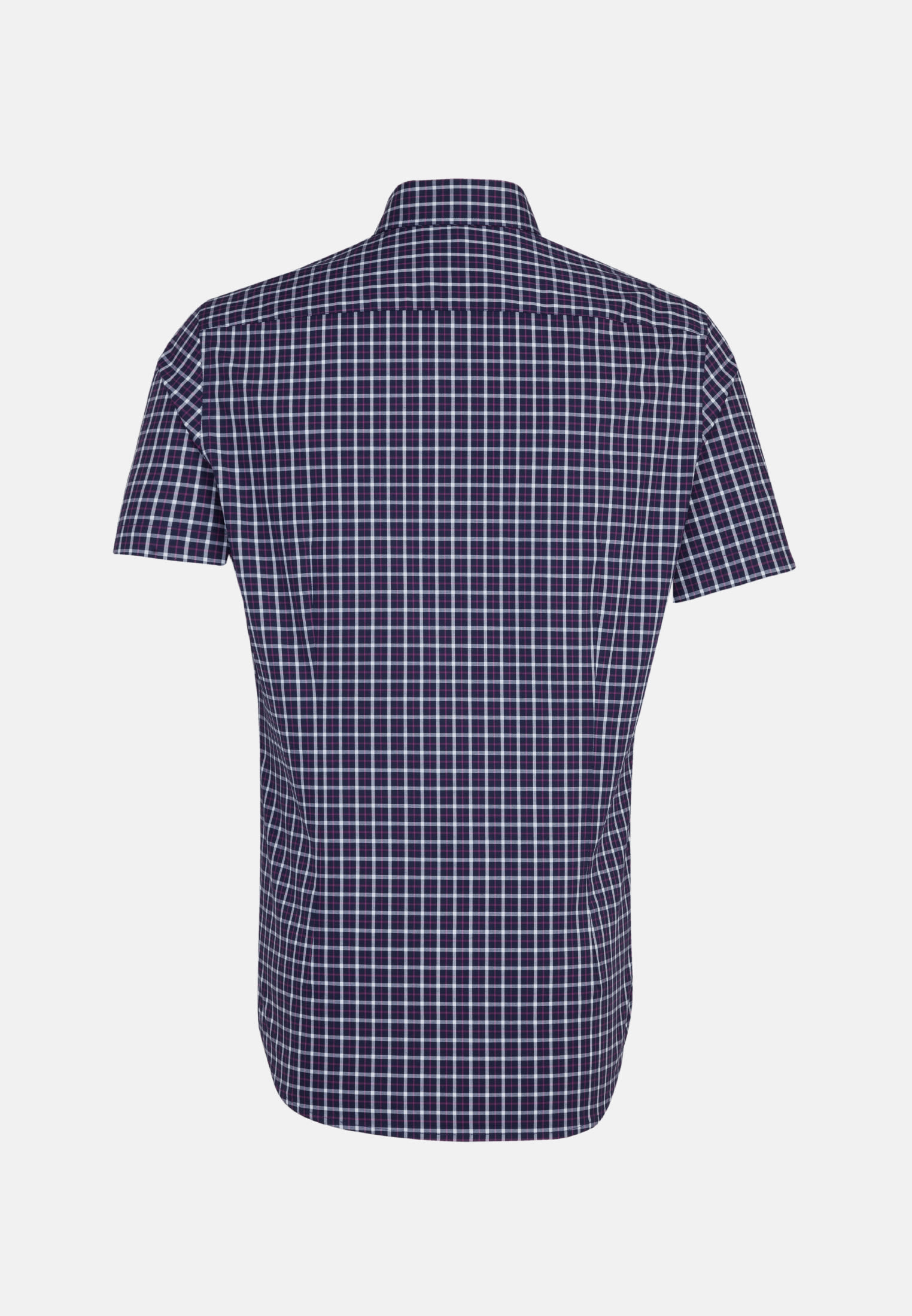 Non-iron Poplin Short sleeve Business Shirt in Shaped with Button-Down-Collar in Purple |  Seidensticker Onlineshop