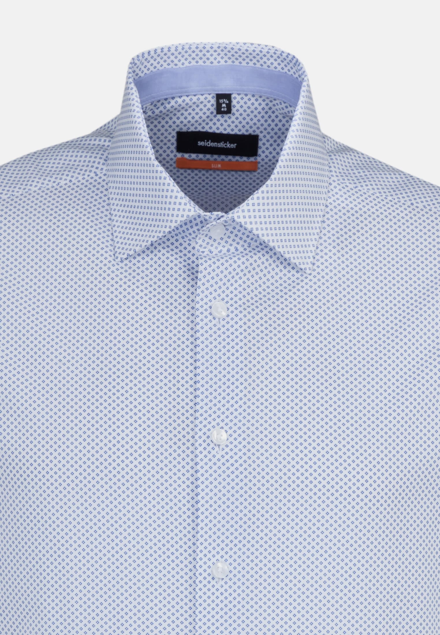 Easy-iron Poplin Short sleeve Business Shirt in Slim with Kent-Collar in Light blue    Seidensticker Onlineshop