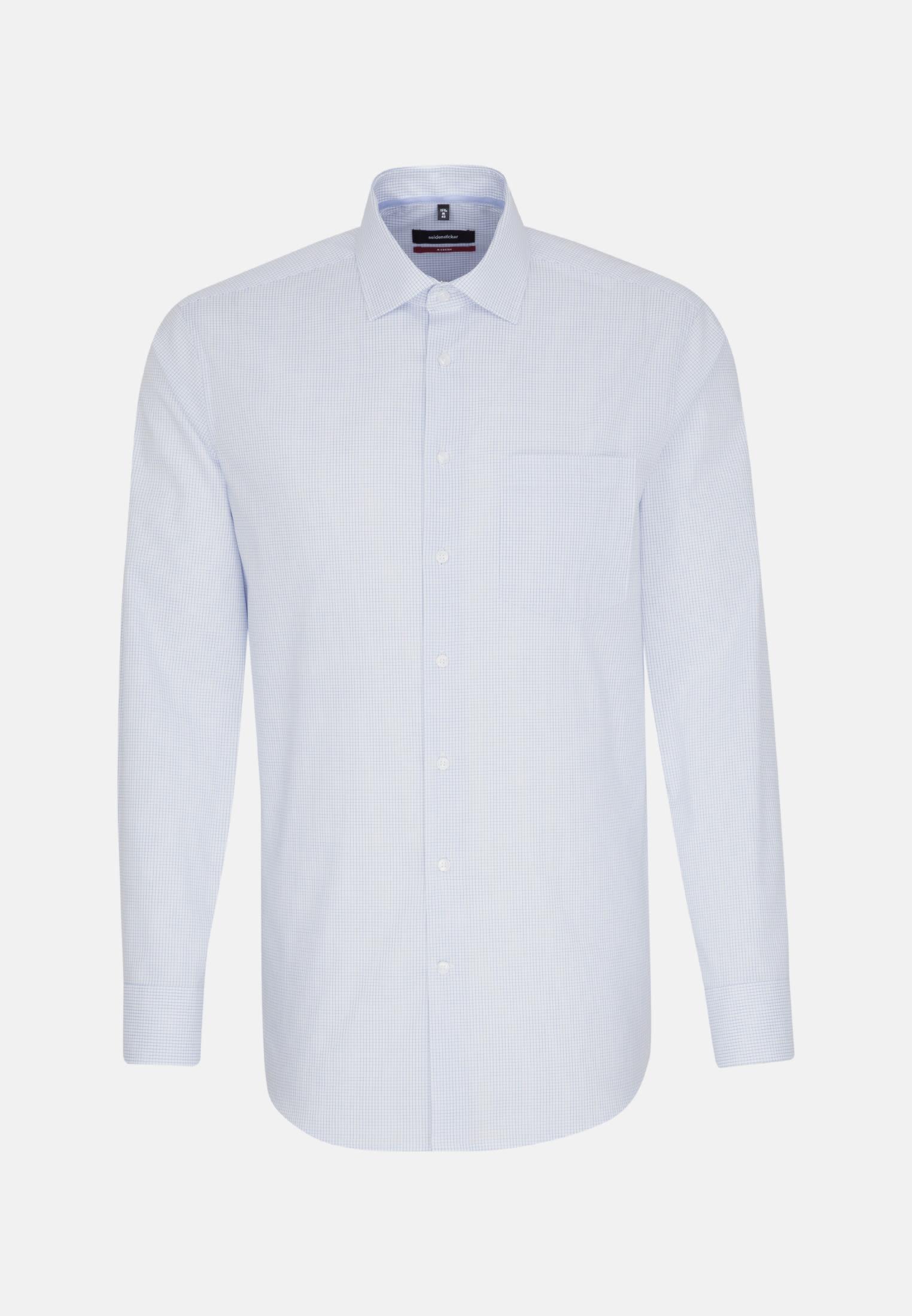 Non-iron Poplin Business Shirt in Modern with Kent-Collar in hellblau |  Seidensticker Onlineshop