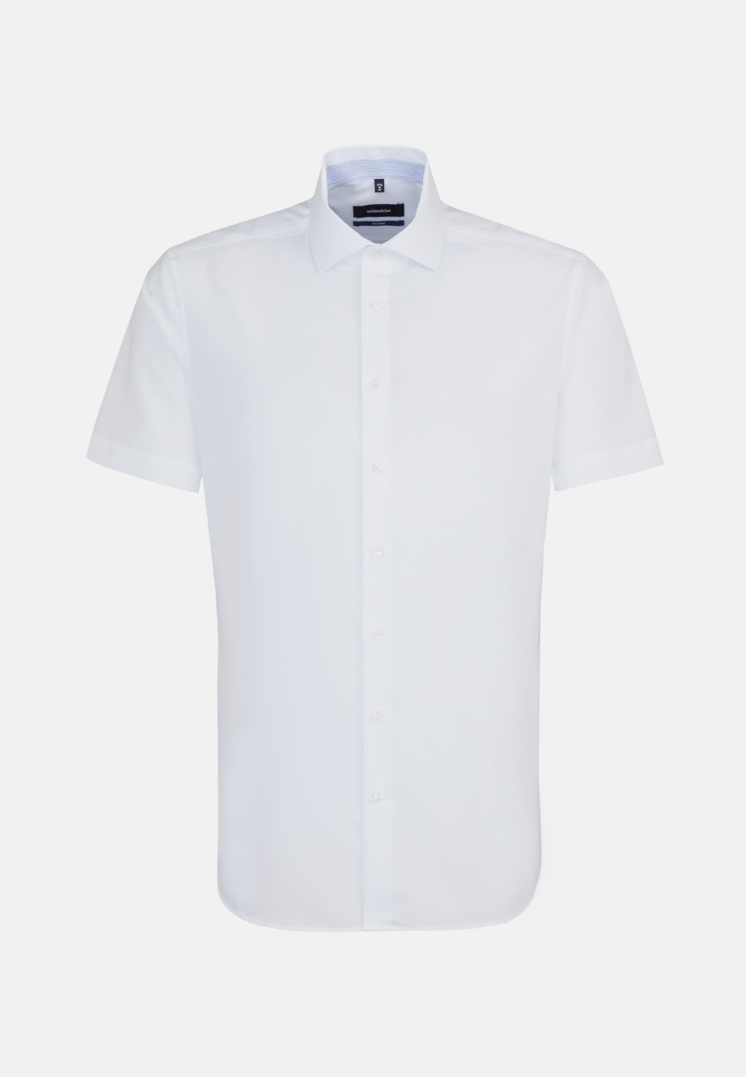 Non-iron Chambray Short arm Business Shirt in Tailored with Kent-Collar in White |  Seidensticker Onlineshop