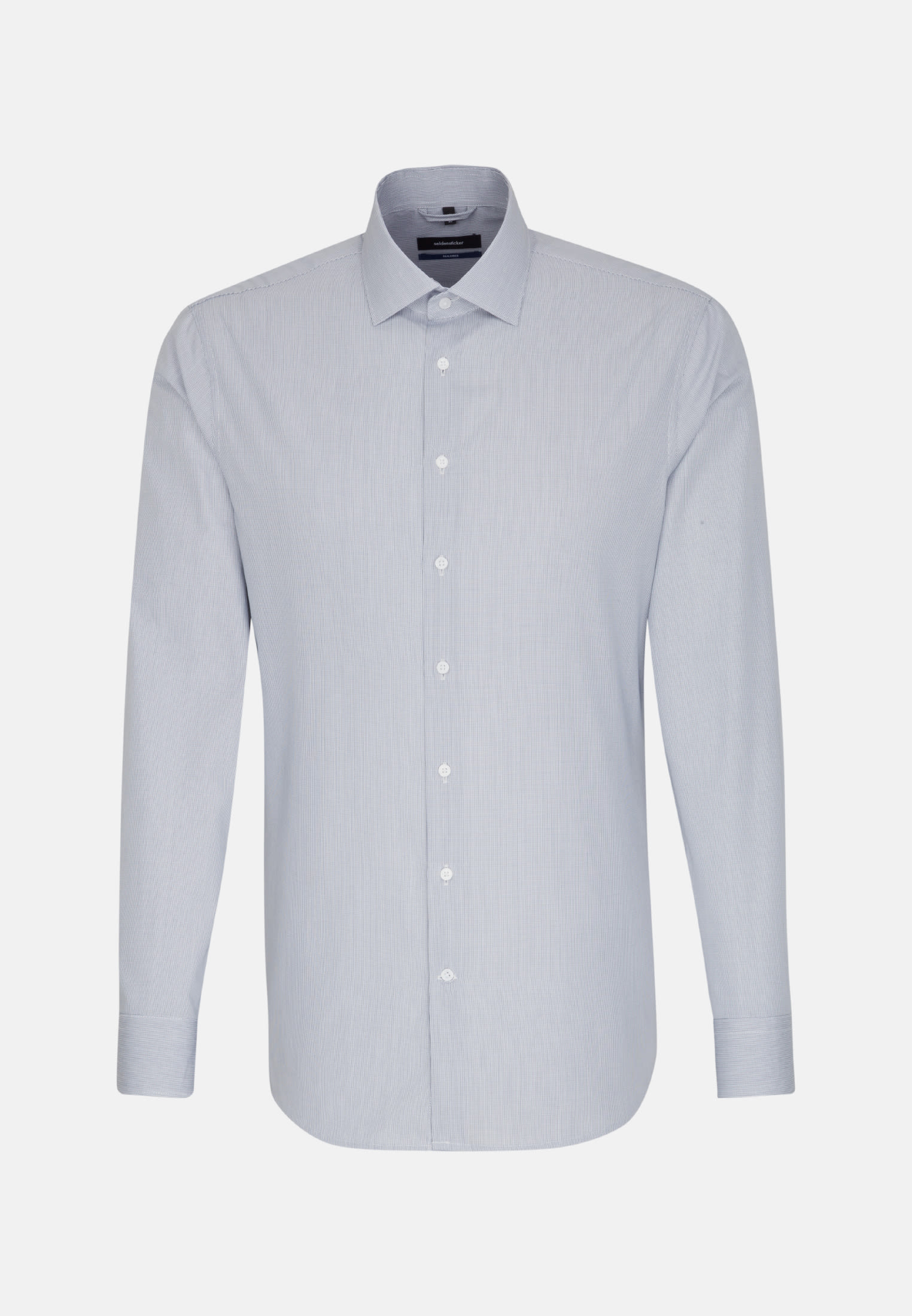 Poplin Business Shirt in Tailored with Kent-Collar in Dark blue |  Seidensticker Onlineshop