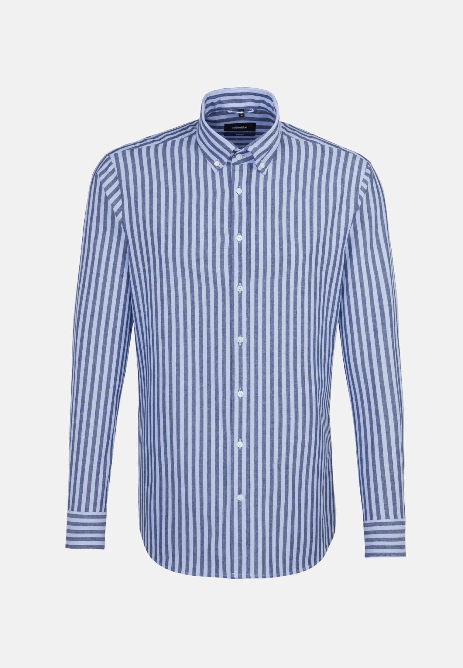 Popeline Business Hemd in Shaped mit Button-Down-Kragen in Dunkelblau |  Seidensticker Onlineshop