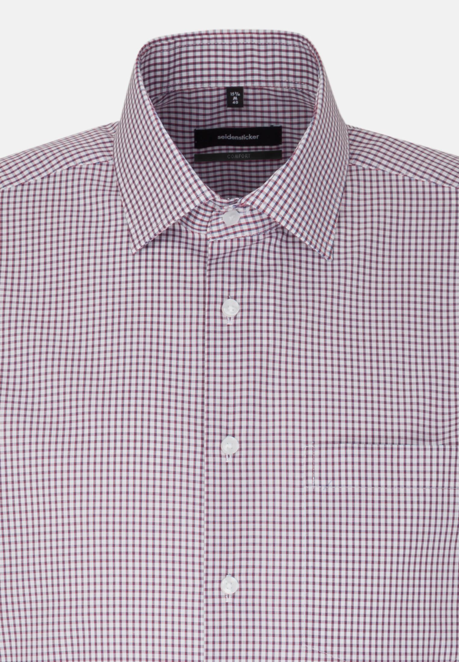 Non-iron Poplin Short arm Business Shirt in Comfort with Kent-Collar in Red |  Seidensticker Onlineshop
