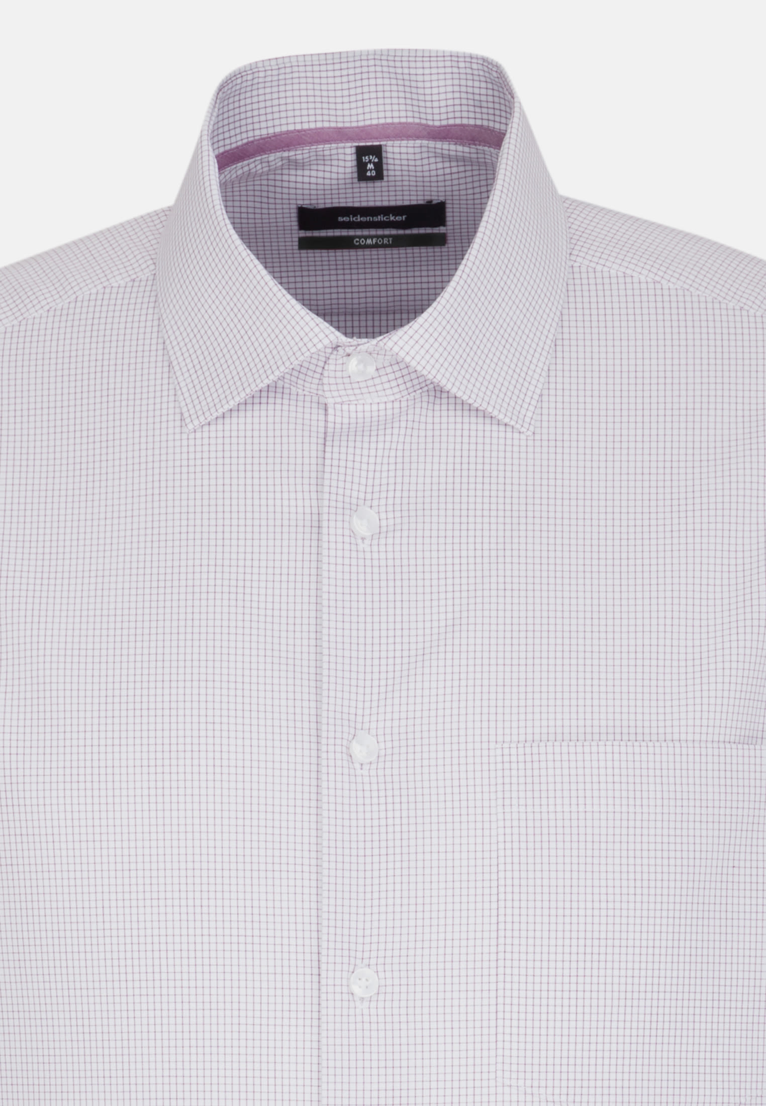 Non-iron Poplin Business Shirt in Comfort with Kent-Collar in Purple |  Seidensticker Onlineshop