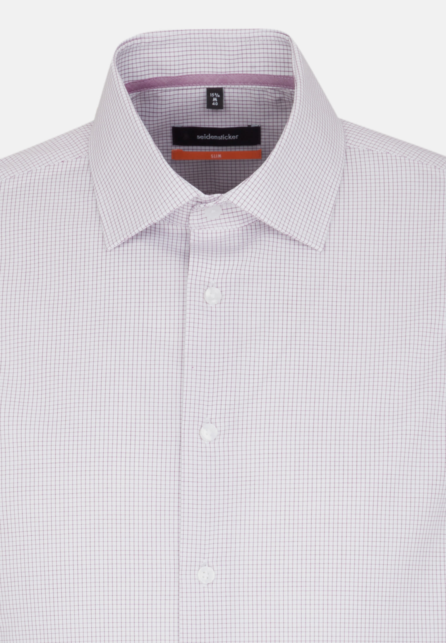 Non-iron Poplin Business Shirt in Slim with Kent-Collar in Purpla |  Seidensticker Onlineshop