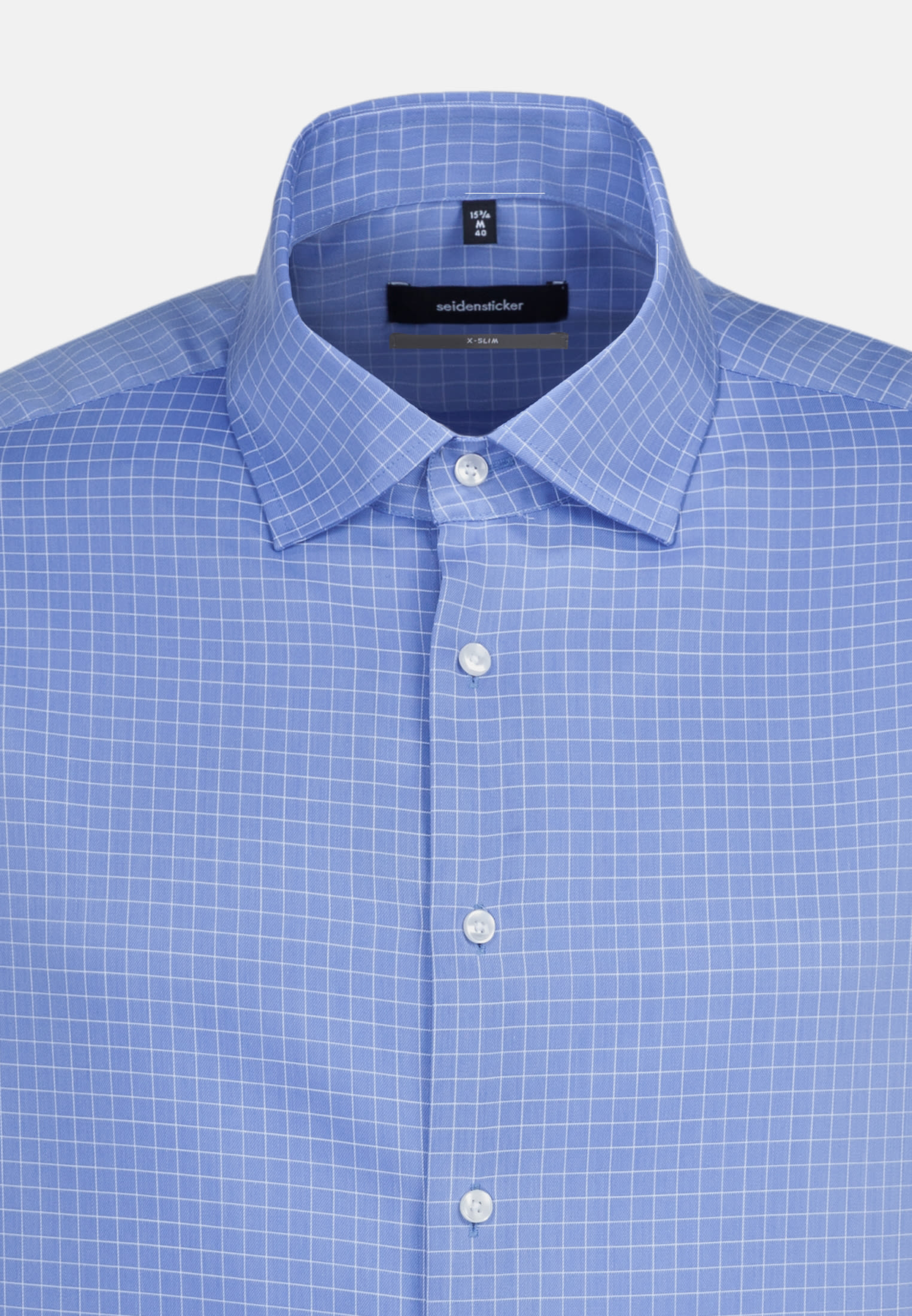 Easy-iron Structure Business Shirt in X-Slim with Kent-Collar in Light blue |  Seidensticker Onlineshop