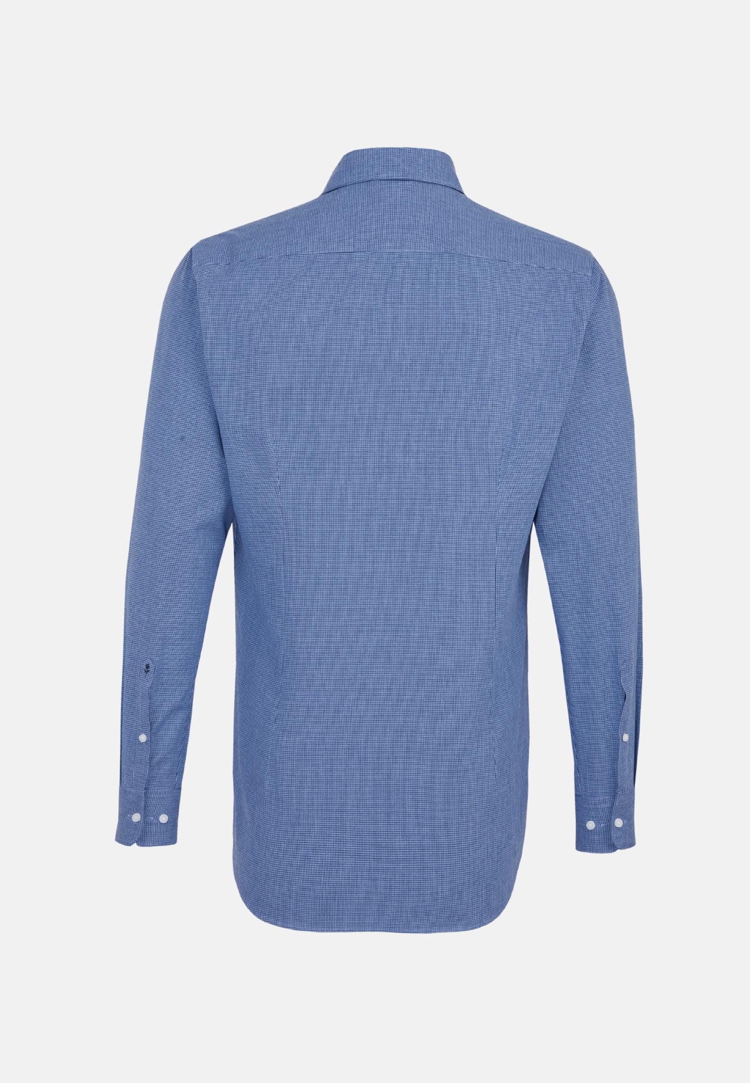 Popeline Business Hemd in Shaped mit Button-Down-Kragen in Dunkelblau |  Seidensticker Onlineshop