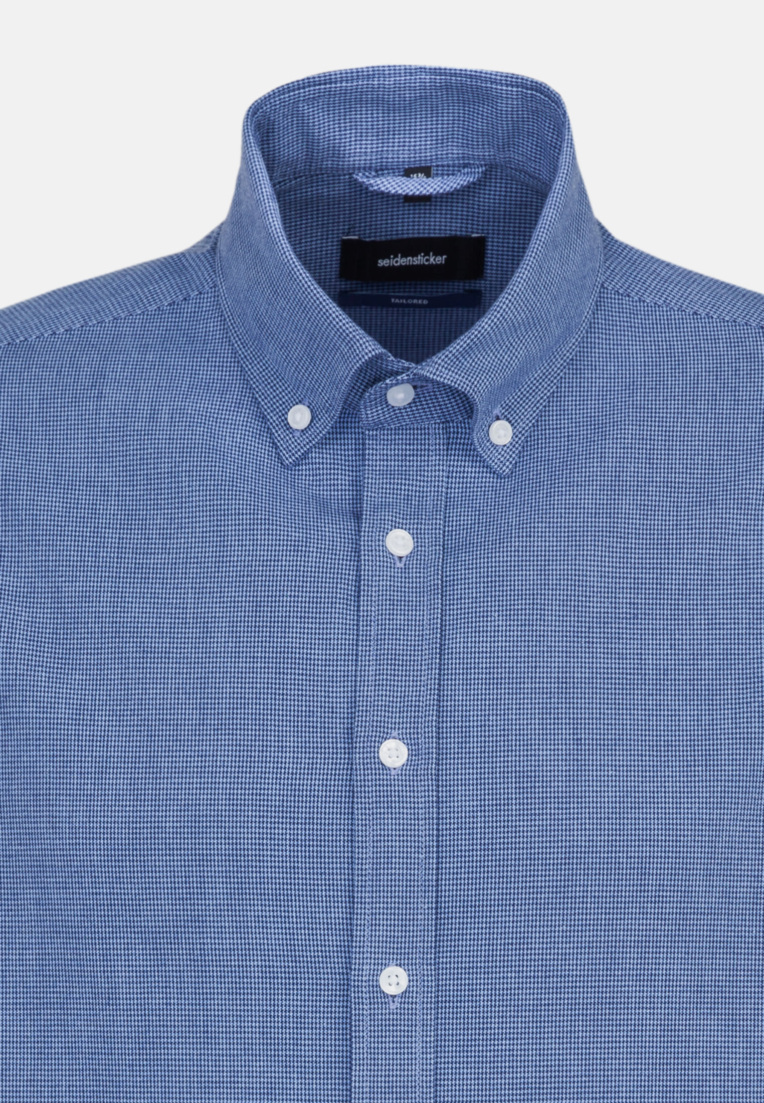 Poplin Business Shirt in Tailored with Button-Down-Collar in dunkelblau |  Seidensticker Onlineshop