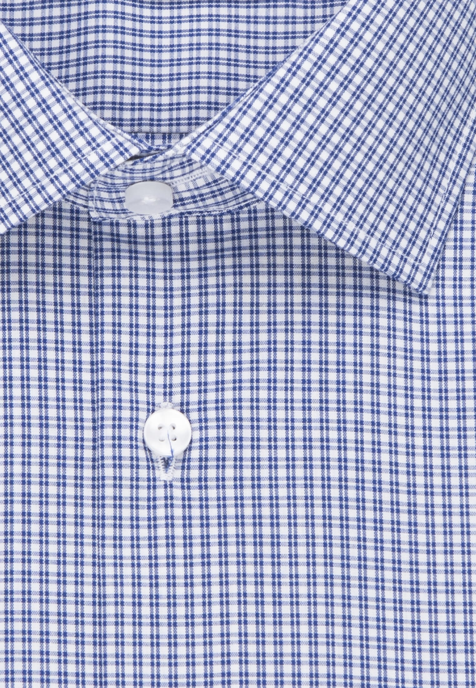 Non-iron Poplin Short arm Business Shirt in Comfort with Kent-Collar in Medium blue |  Seidensticker Onlineshop