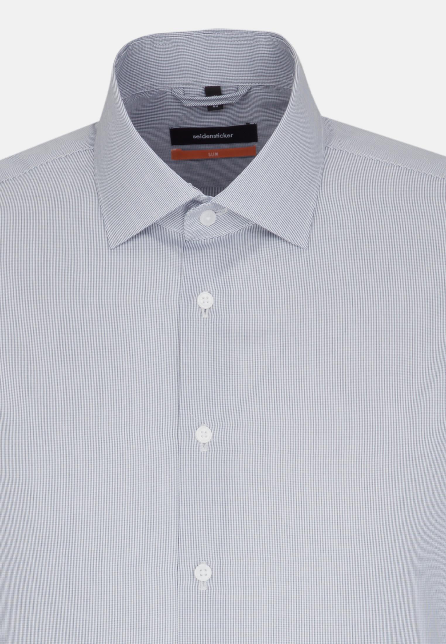 Poplin Business Shirt in Slim with Kent-Collar in Dark blue |  Seidensticker Onlineshop