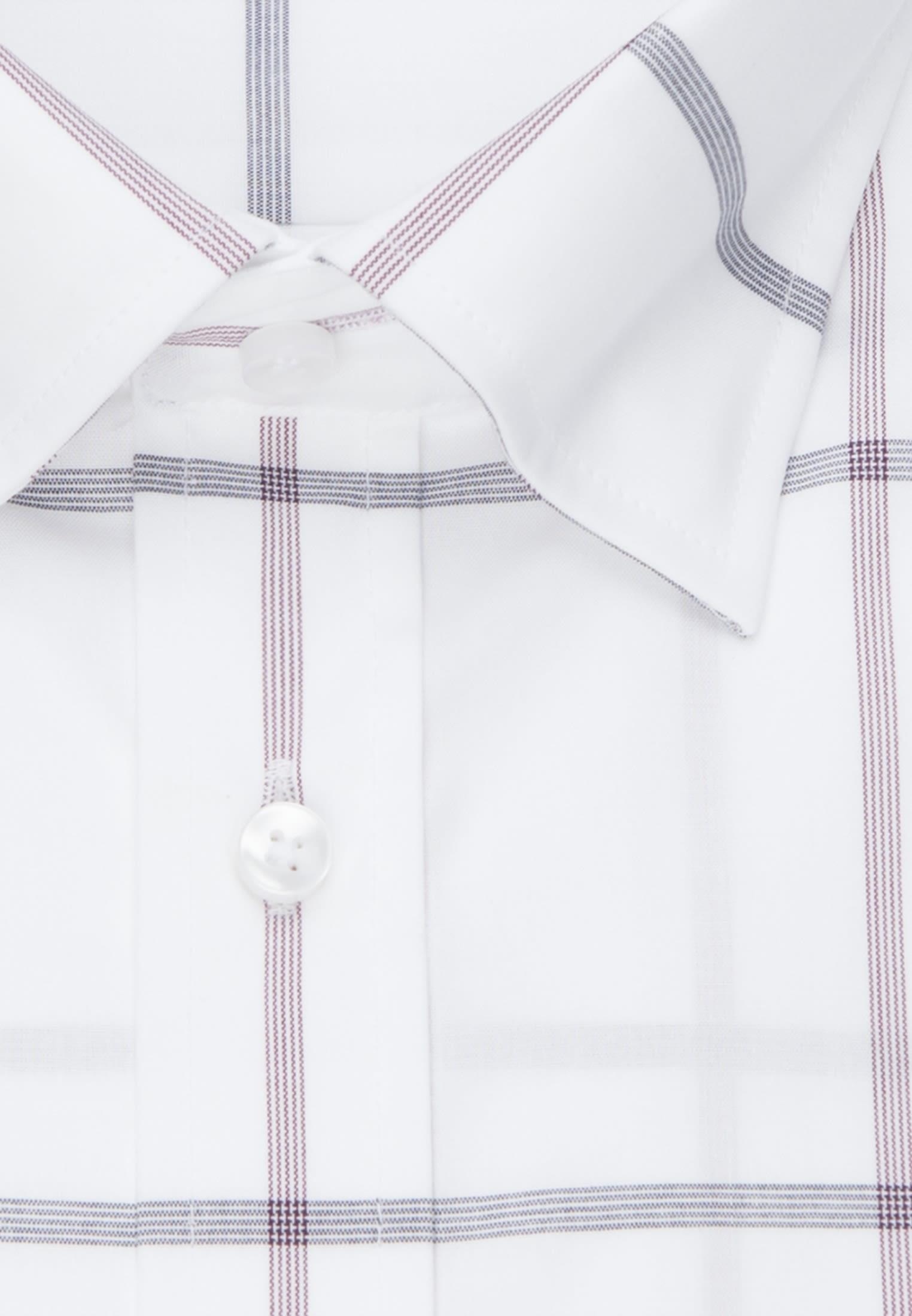 Bügelfreies Popeline Business Hemd in Shaped mit Covered-Button-Down-Kragen in Lila    Seidensticker Onlineshop