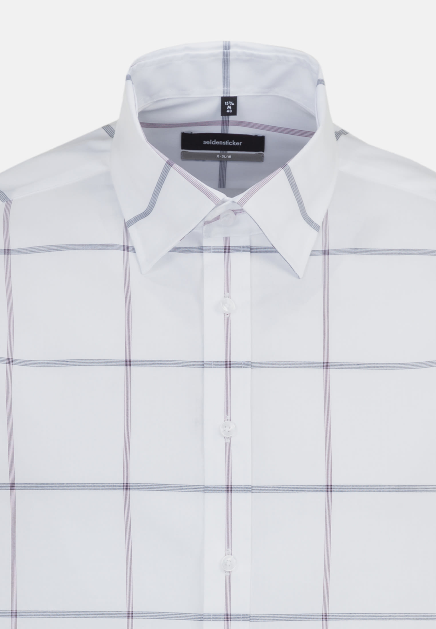 Bügelfreies Popeline Business Hemd in X-Slim mit Covered-Button-Down-Kragen in Lila |  Seidensticker Onlineshop