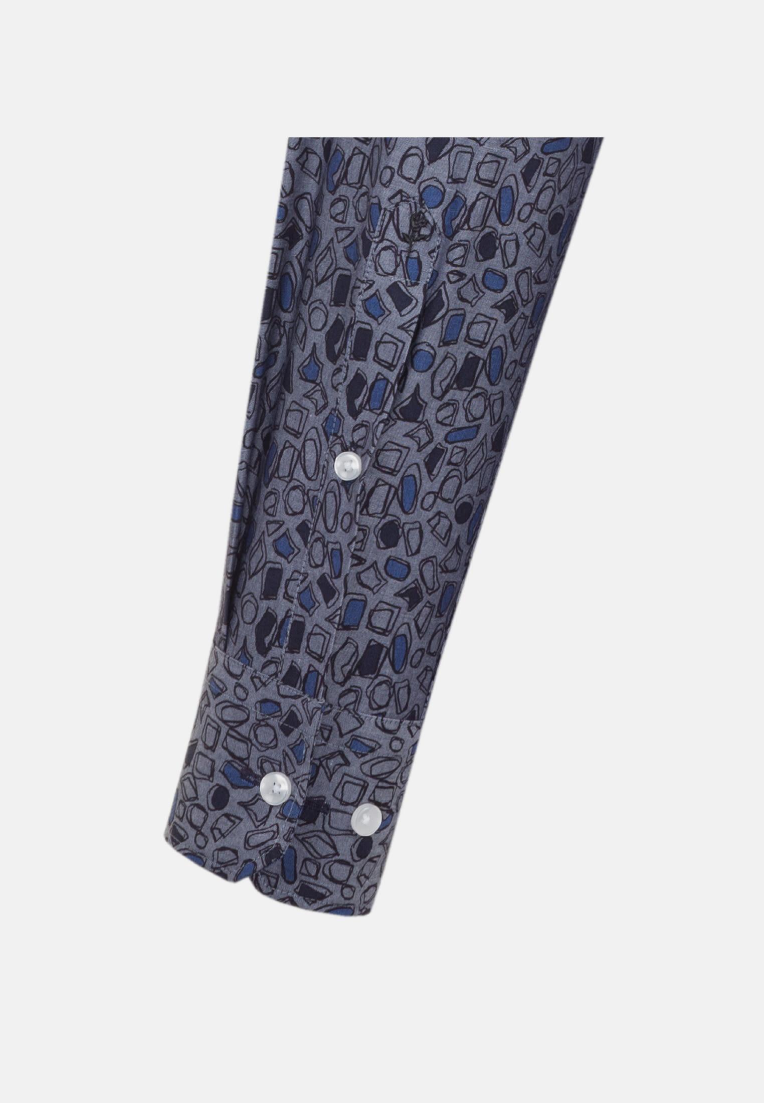 Easy-iron Poplin Business Shirt in Tailored with Kent-Collar in dunkelblau |  Seidensticker Onlineshop