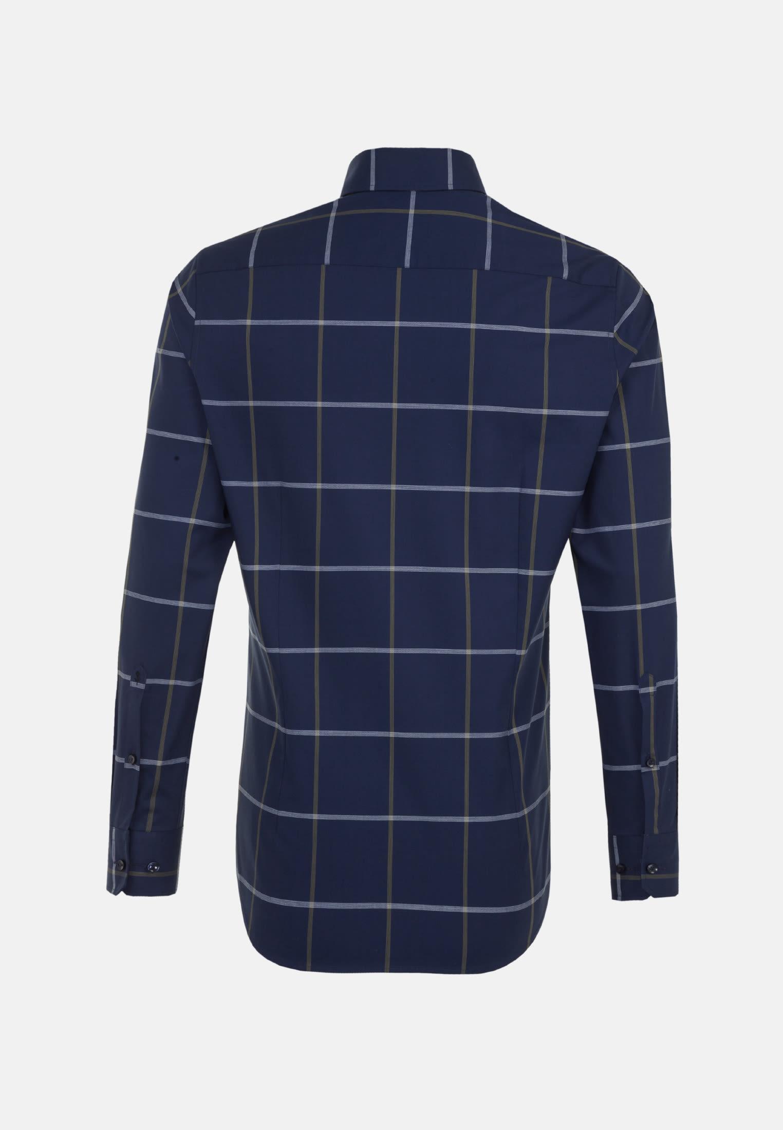 Bügelfreies Popeline Business Hemd in Slim mit Covered-Button-Down-Kragen in Grün |  Seidensticker Onlineshop