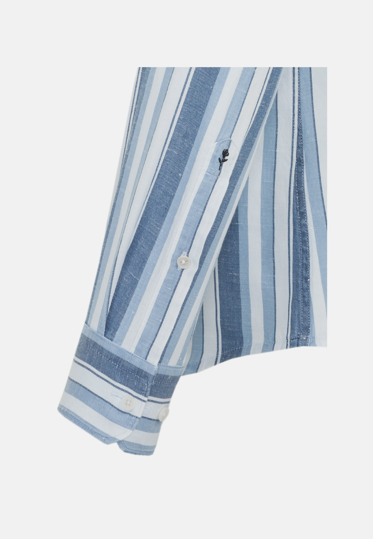 Linen Business Shirt in Tailored with Button-Down-Collar in blau |  Seidensticker Onlineshop
