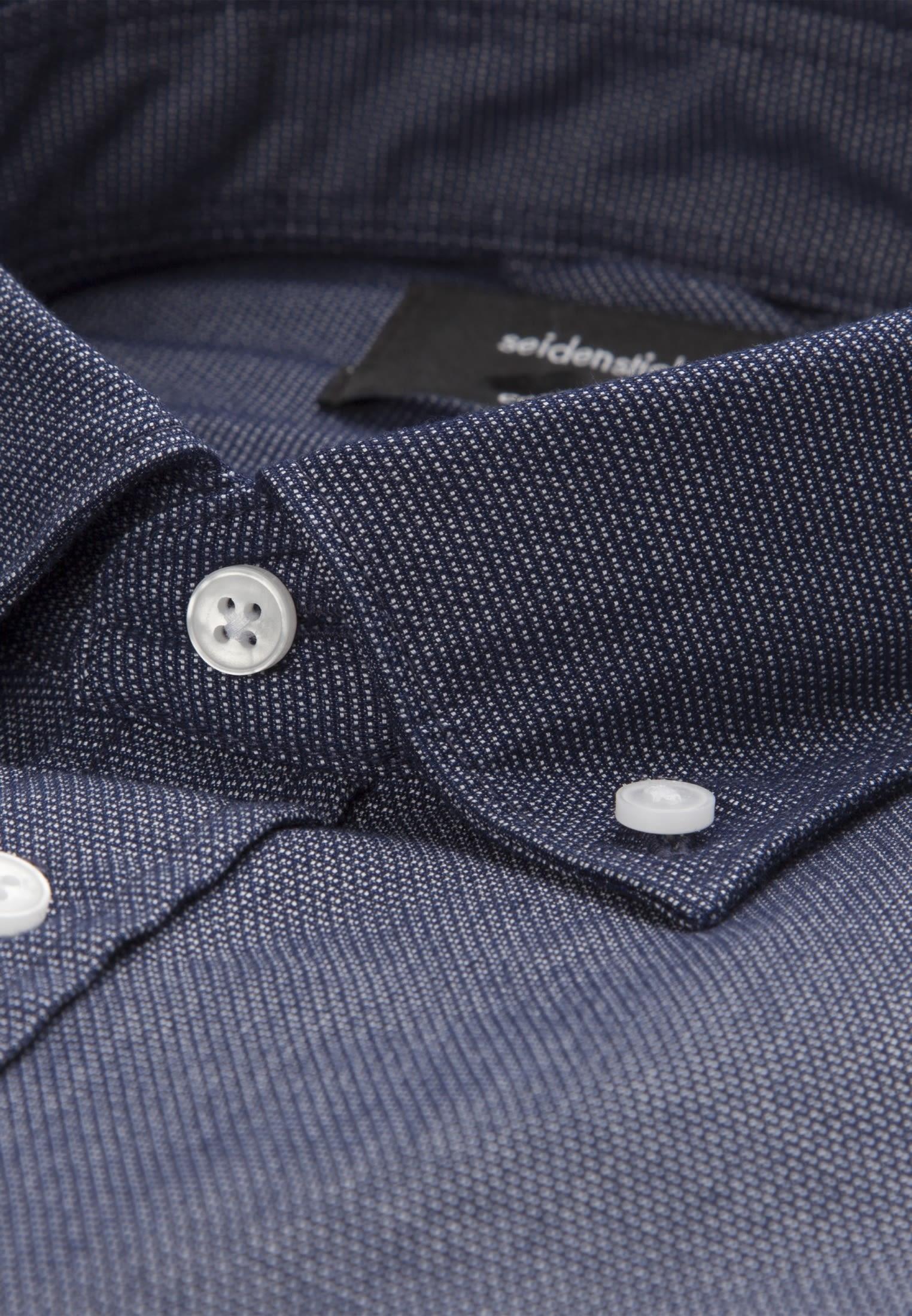 Easy-iron Structure Business Shirt in Comfort with Button-Down-Collar in blau |  Seidensticker Onlineshop