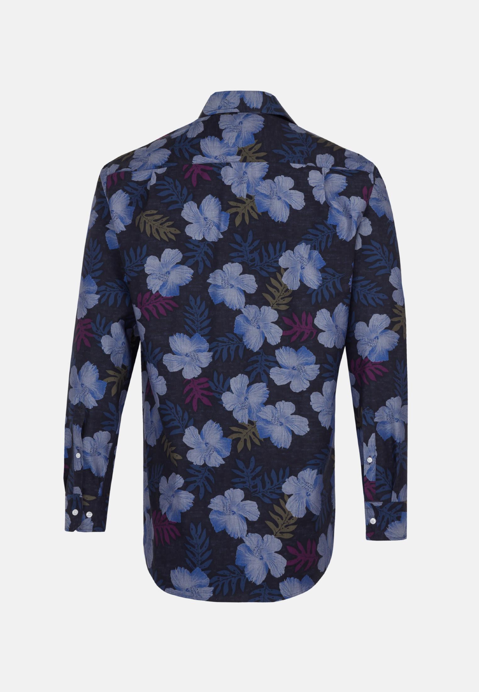 Easy-iron Poplin Business Shirt in Comfort with Button-Down-Collar in dunkelblau |  Seidensticker Onlineshop