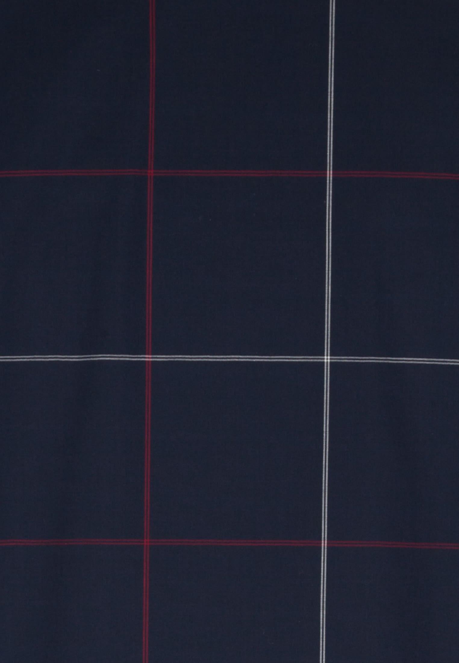 Bügelfreies Popeline Kurzarm Business Hemd in Regular mit Covered-Button-Down-Kragen in Rot |  Seidensticker Onlineshop