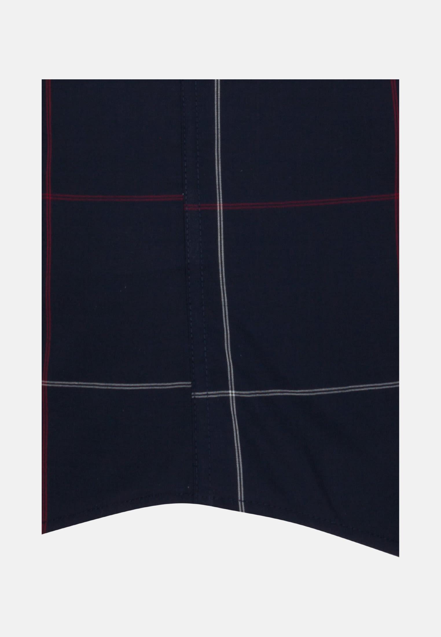 Bügelfreies Popeline Kurzarm Business Hemd in Regular mit Covered-Button-Down-Kragen in Schwarz |  Seidensticker Onlineshop