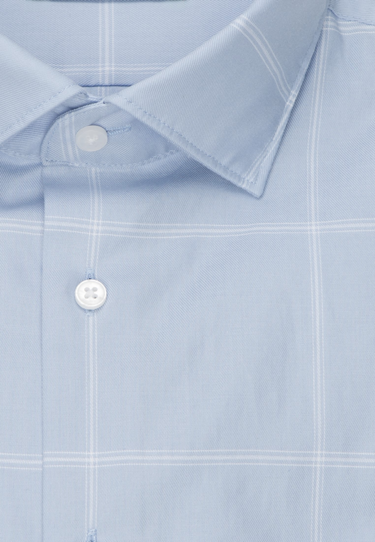 Bügelleichtes Twill Business Hemd in Tailored mit Kentkragen in Hellblau |  Seidensticker Onlineshop