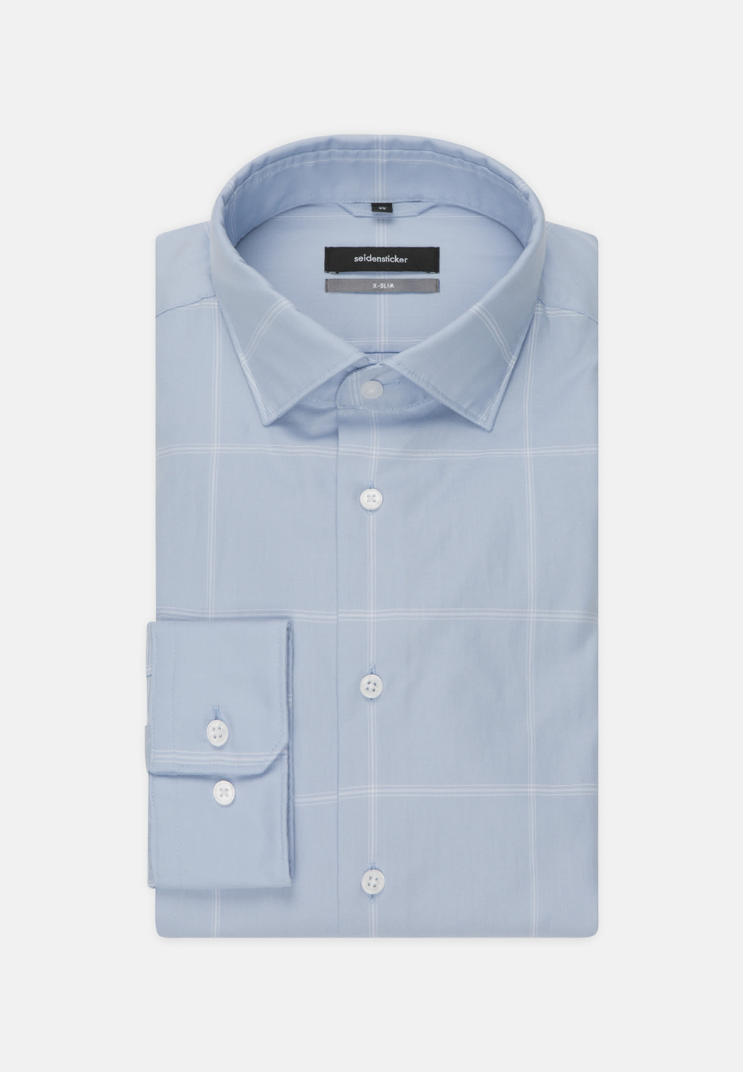 Easy-iron Twill Business Shirt in X-Slim with Kent-Collar in Light blue |  Seidensticker Onlineshop