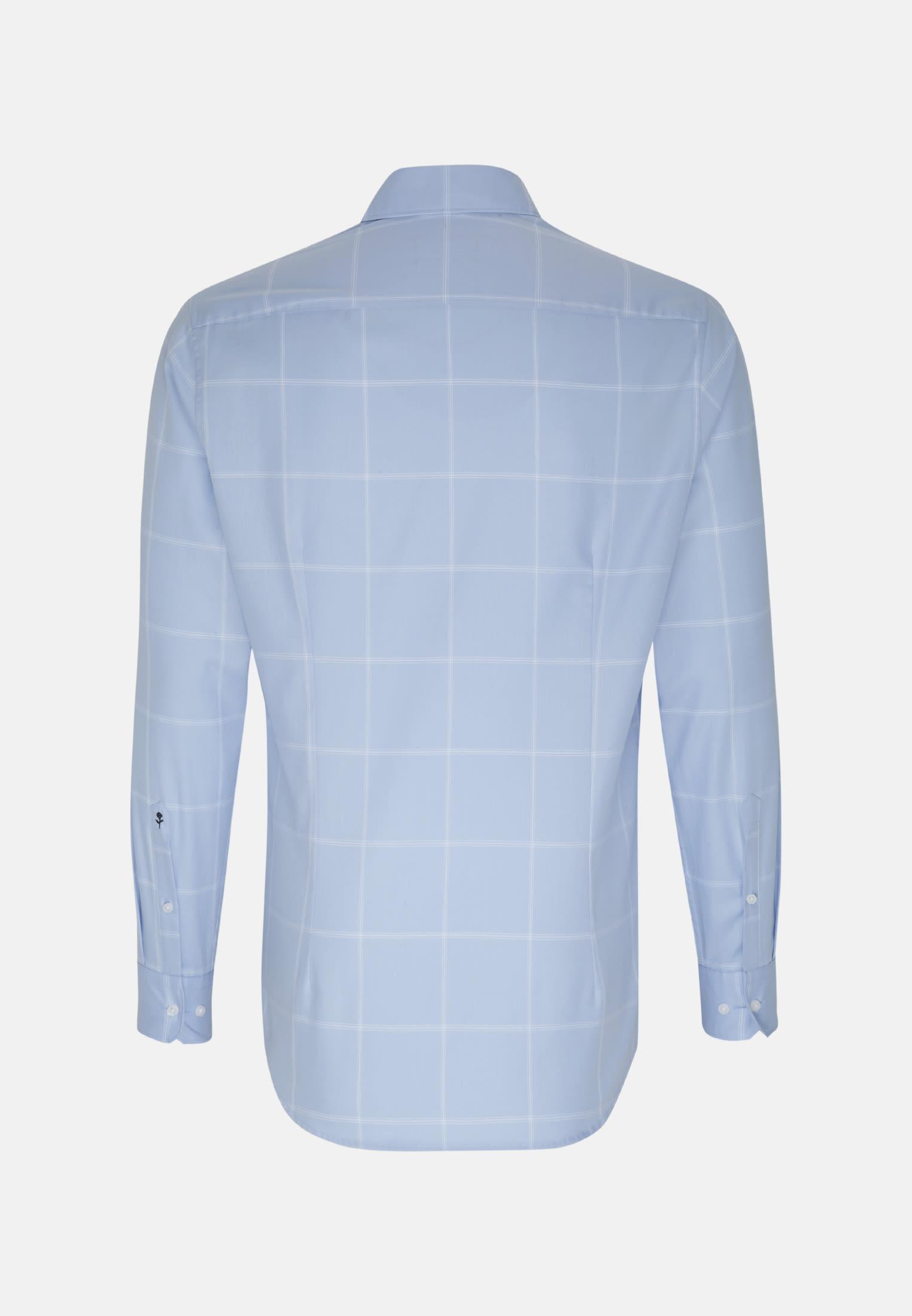 Easy-iron Twill Business Shirt in X-Slim with Kent-Collar in blau |  Seidensticker Onlineshop