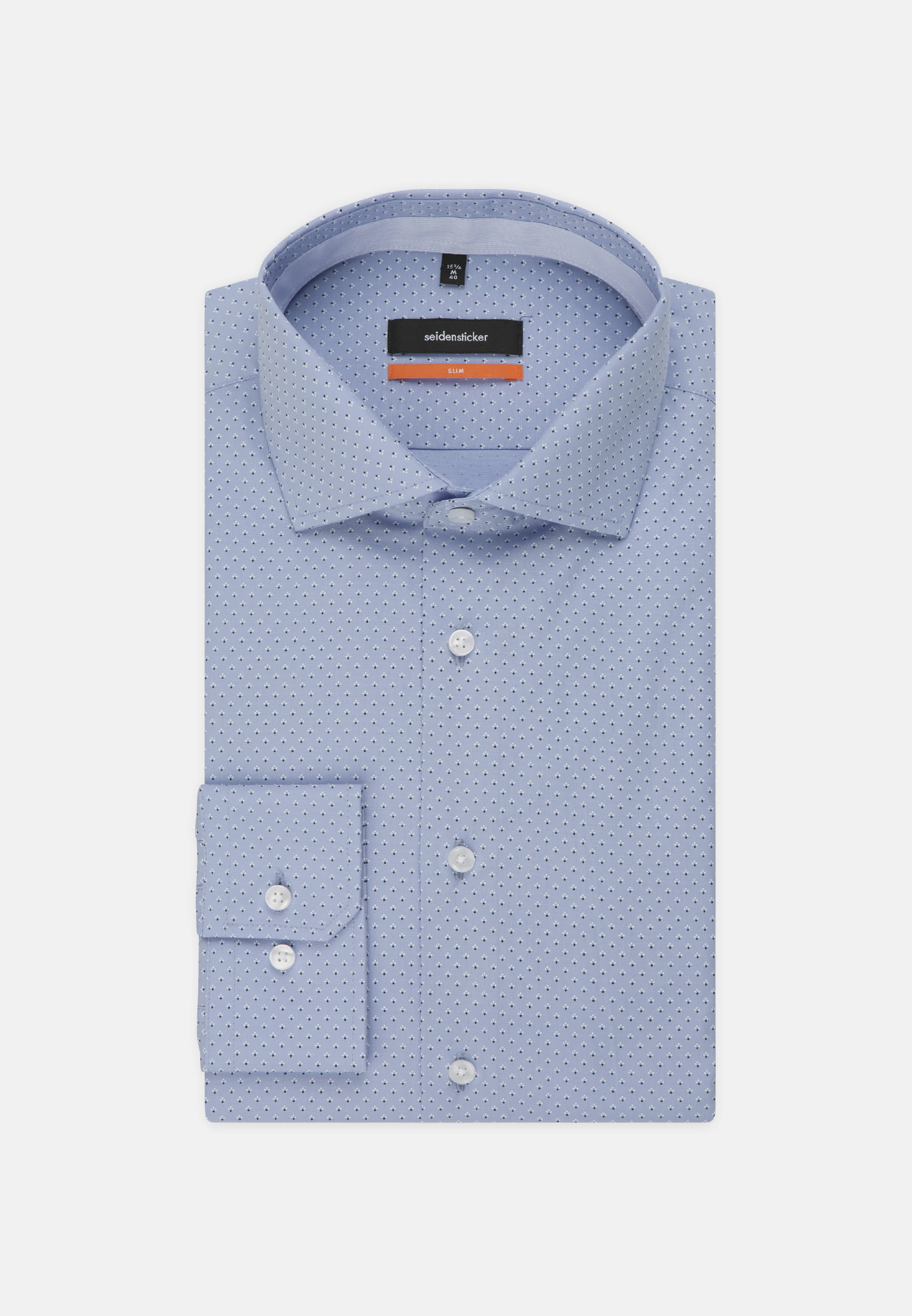 Bügelleichtes Popeline Business Hemd in Slim mit Kentkragen in Hellblau |  Seidensticker Onlineshop