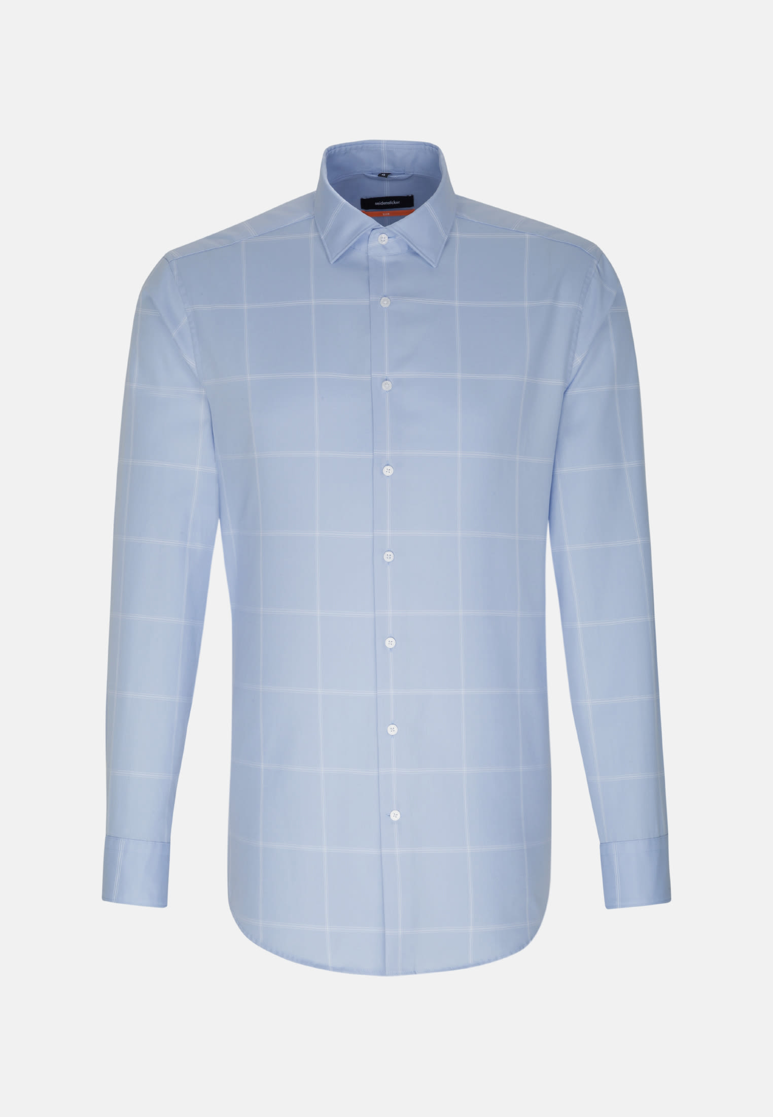 Easy-iron Twill Business Shirt in Slim with Kent-Collar in Light blue |  Seidensticker Onlineshop