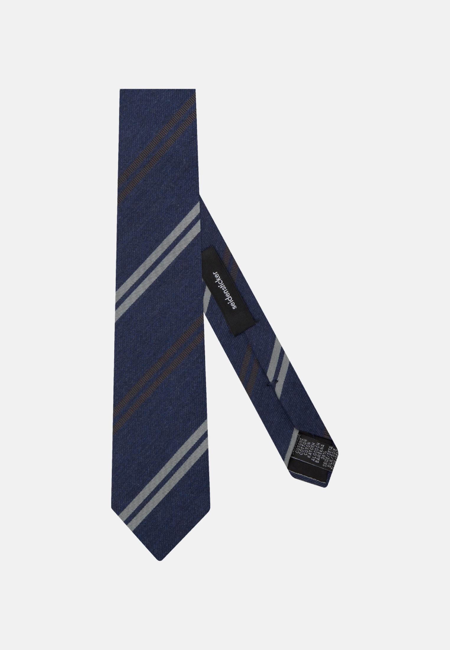 Krawatte aus Seidenmischung 7 cm Breit in Dunkelblau |  Seidensticker Onlineshop