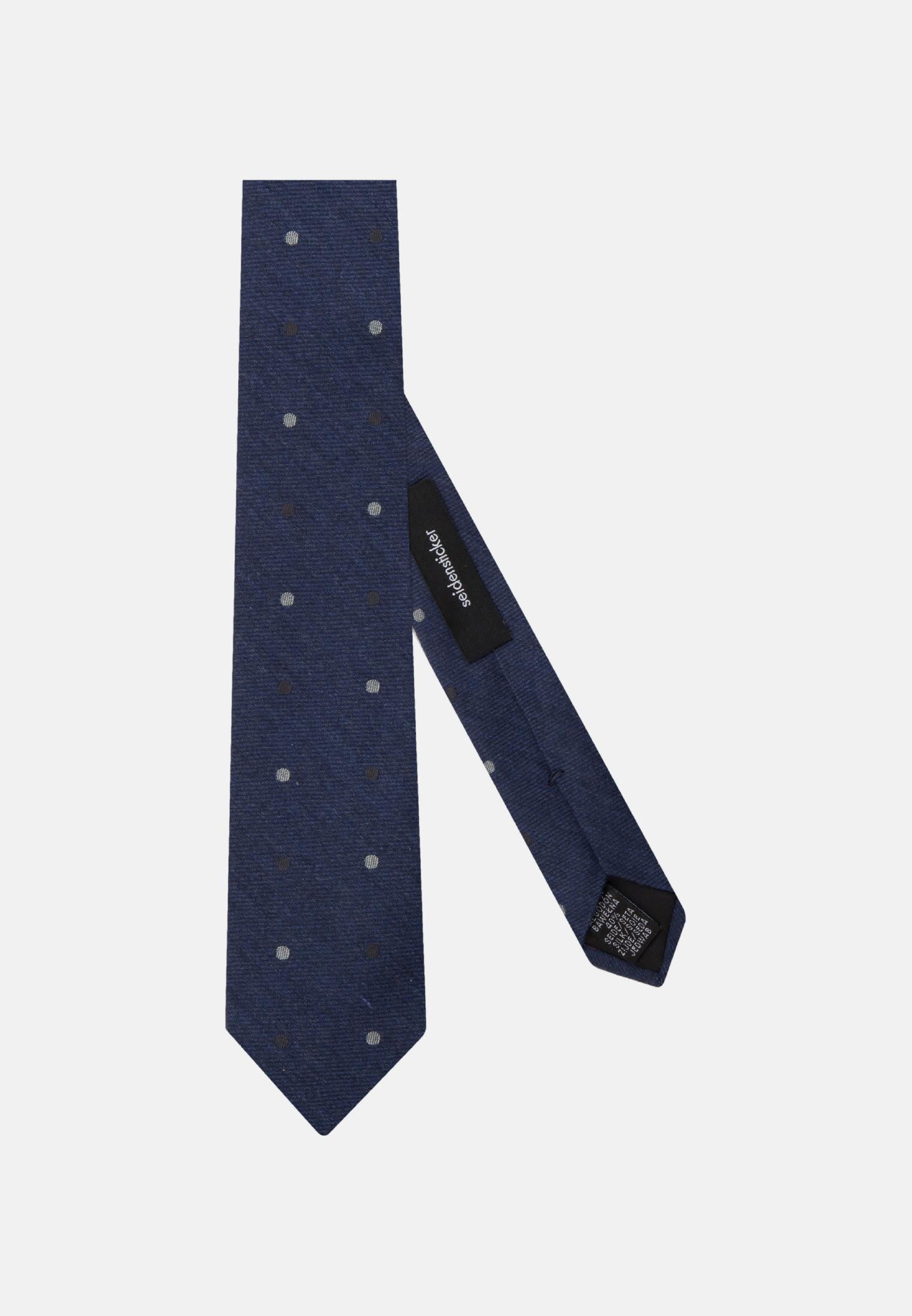 Tie made of 64% Cotton 36% Silk 7 cm wide in Dark blue    Seidensticker Onlineshop