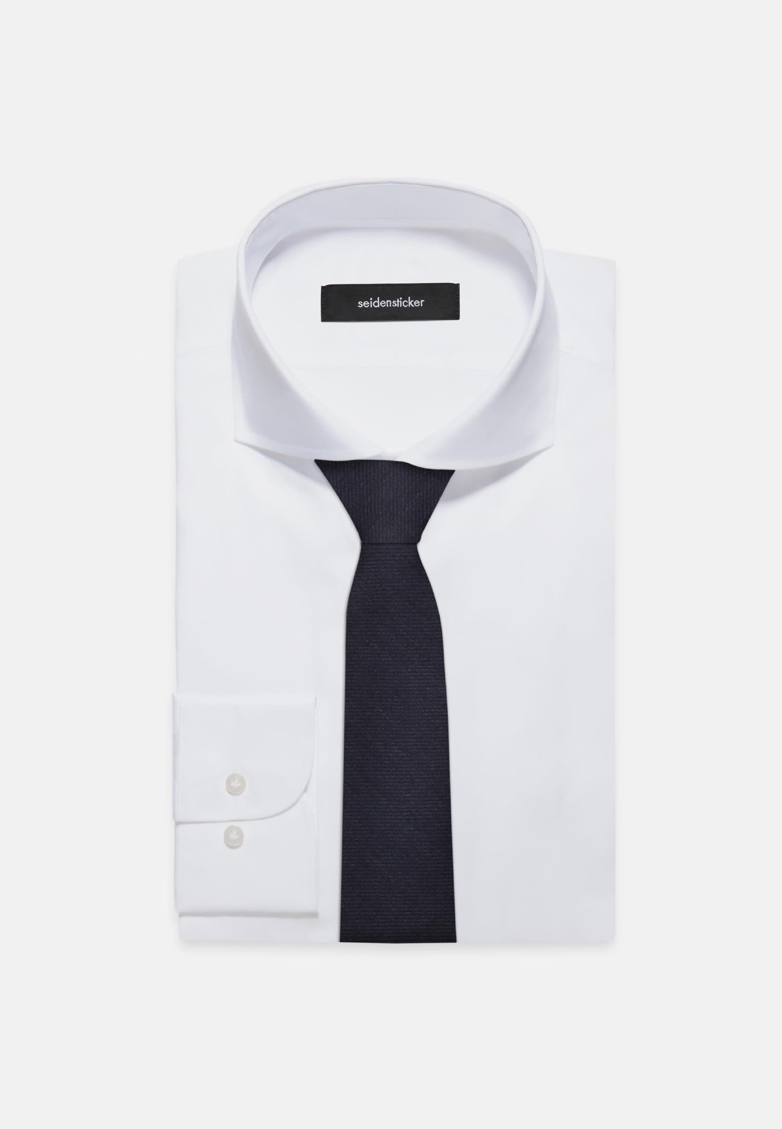 Tie made of 100% Silk 7 cm wide in navy    Seidensticker Onlineshop