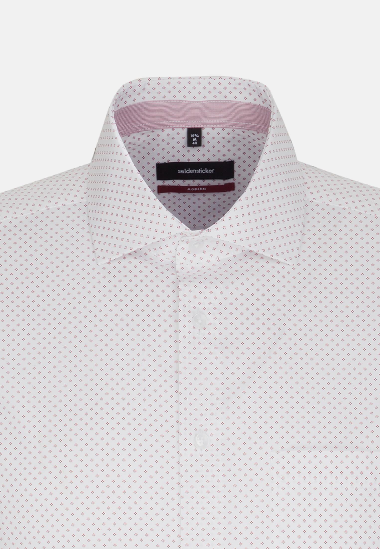 Easy-iron Poplin Short sleeve Business Shirt in Regular with Kent-Collar in White |  Seidensticker Onlineshop