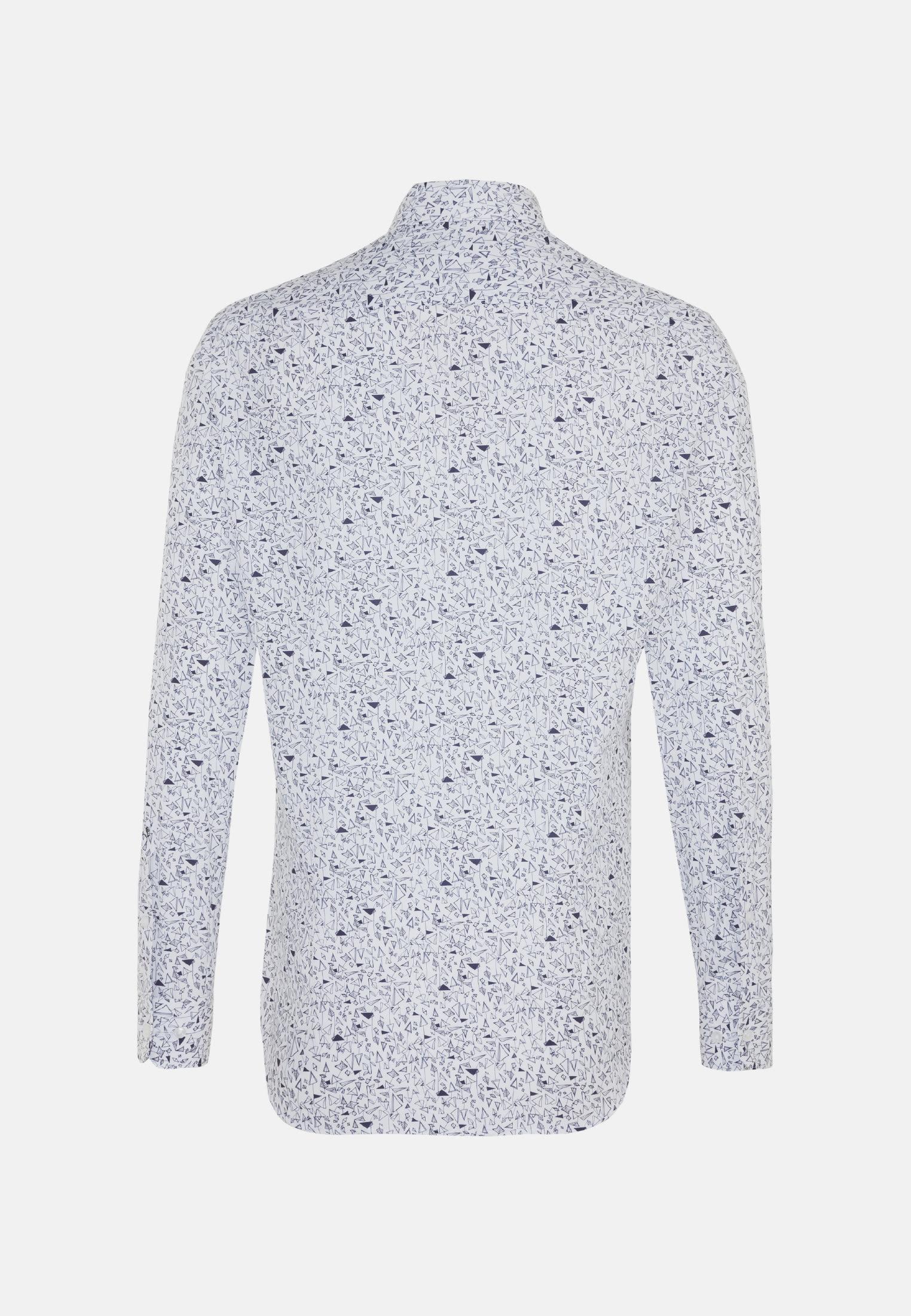 Easy-iron Poplin Business Shirt in Tailored with Kent-Collar in Dark blue    Seidensticker Onlineshop