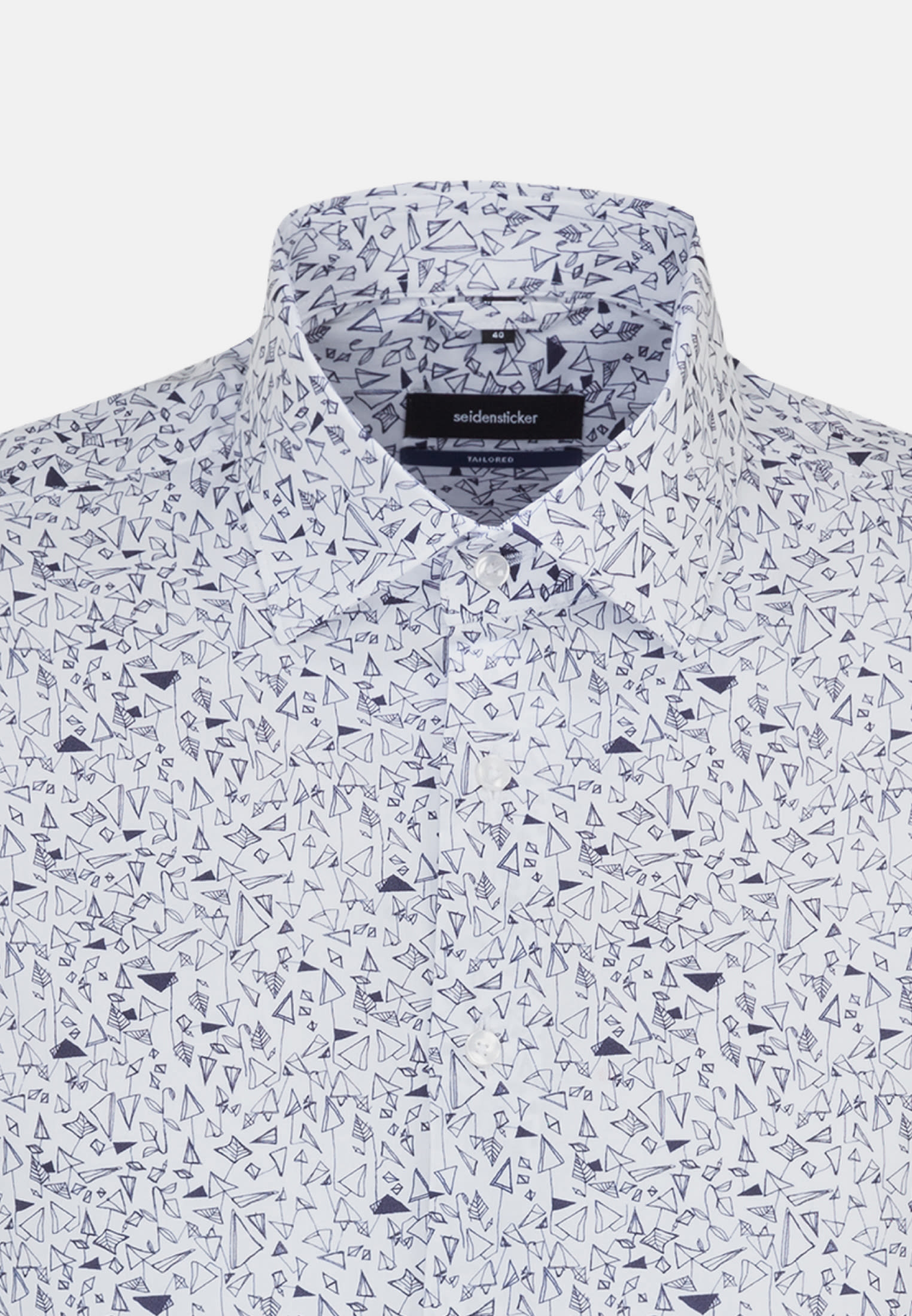 Easy-iron Poplin Business Shirt in Tailored with Kent-Collar in dunkelblau |  Seidensticker Onlineshop