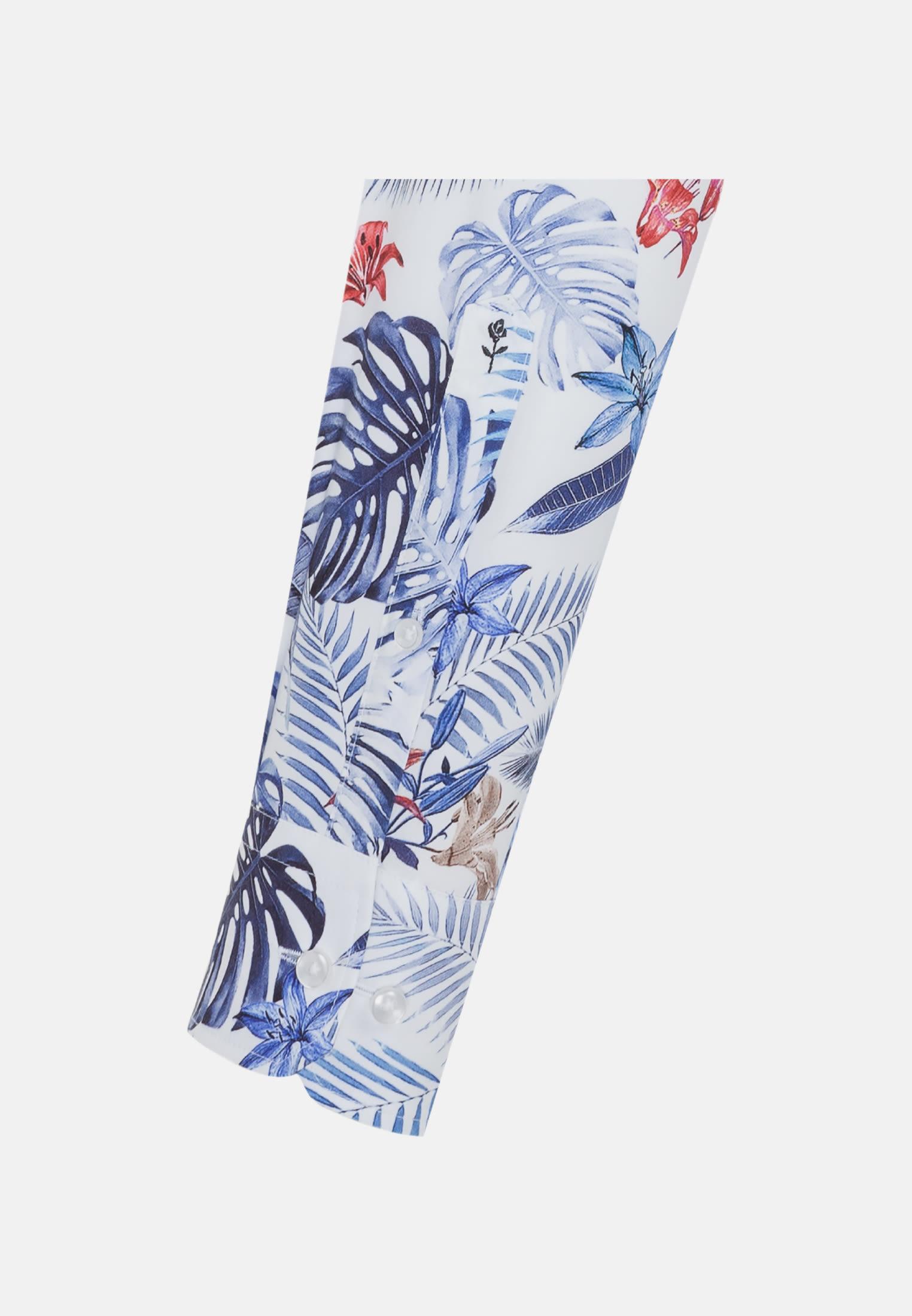 Bügelleichtes Popeline Business Hemd in Shaped mit Button-Down-Kragen in Mittelblau |  Seidensticker Onlineshop