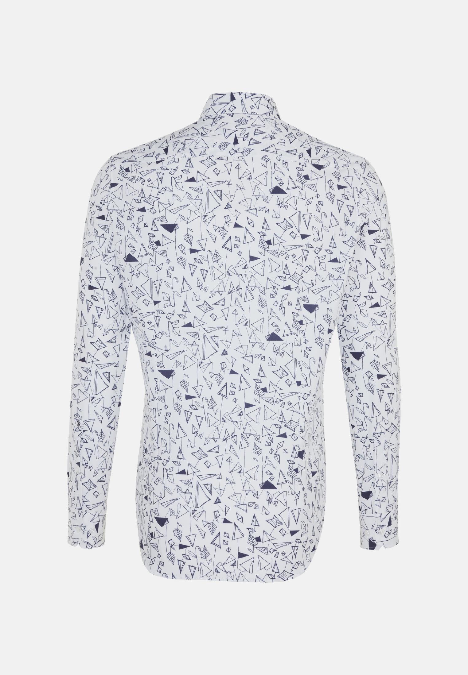 Easy-iron Poplin Business Shirt in Slim with Button-Down-Collar in Dark blue |  Seidensticker Onlineshop
