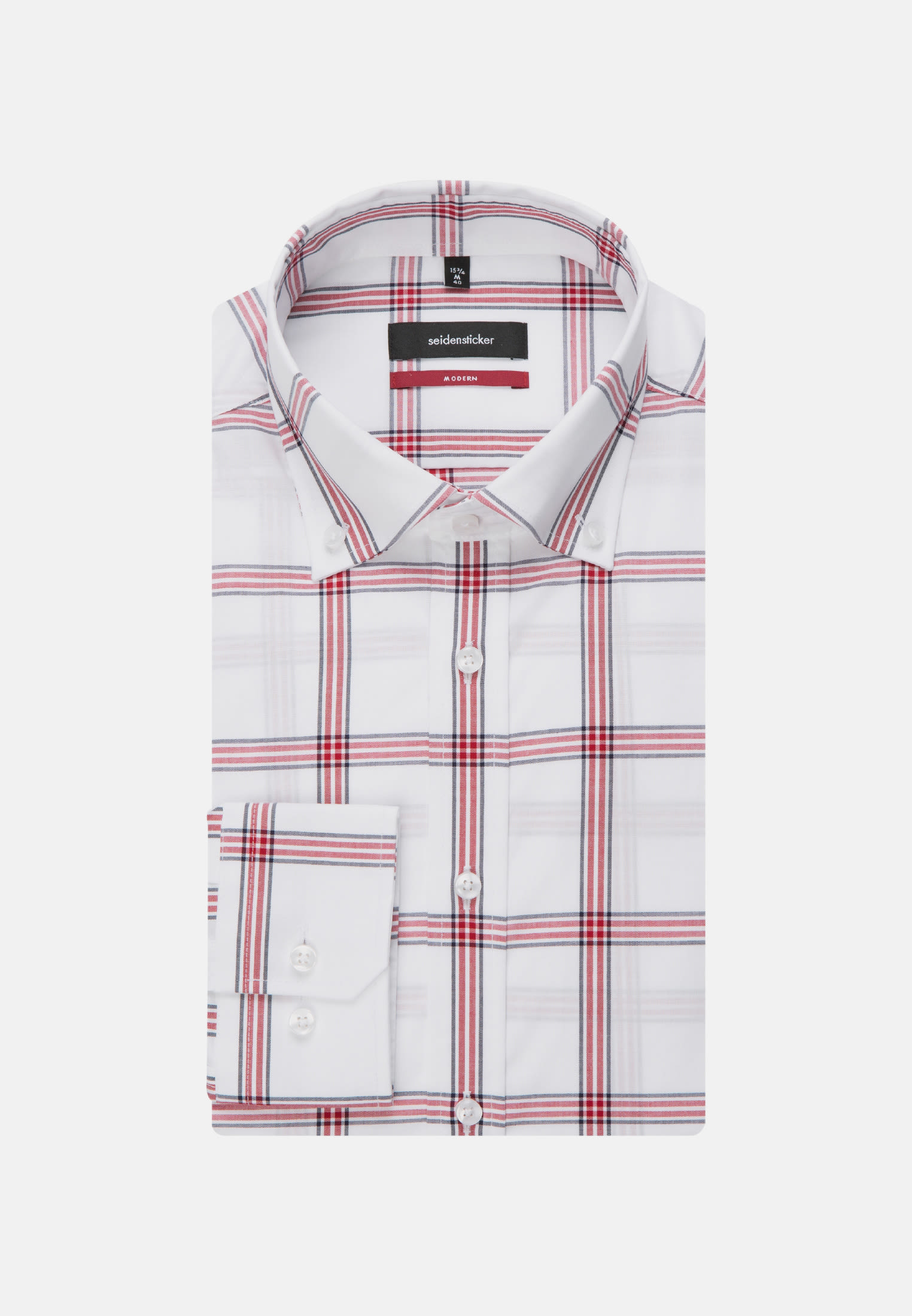 Non-iron Poplin Business Shirt in Regular with Button-Down-Collar in Red |  Seidensticker Onlineshop
